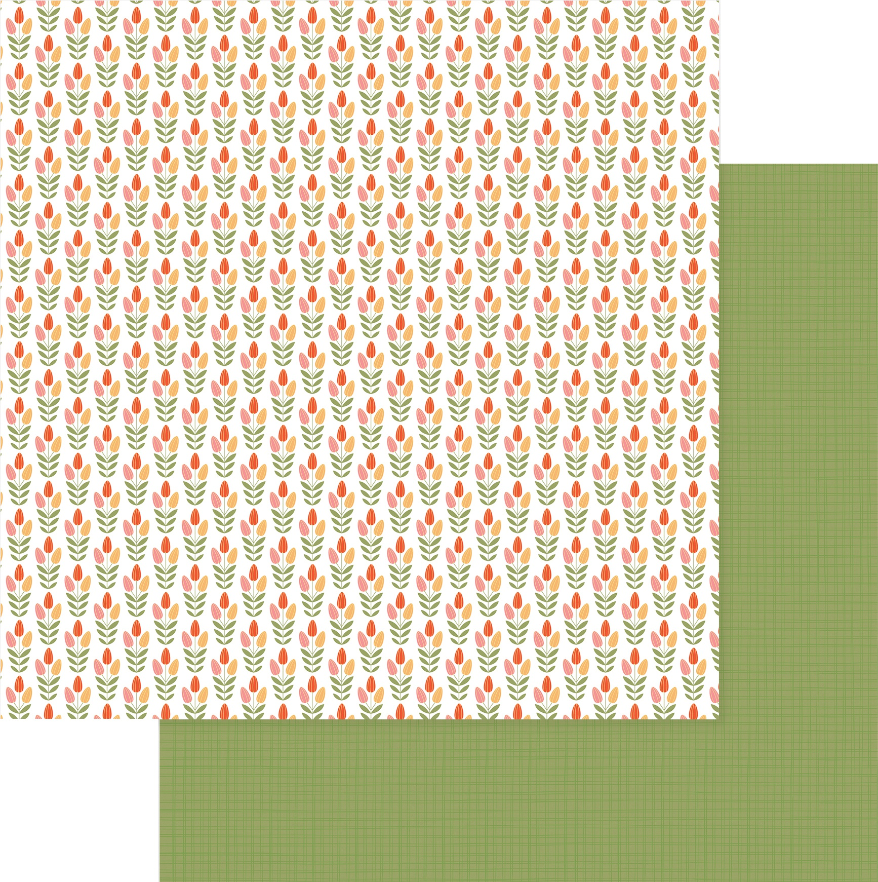 Tulla & Norbert Double-Sided Cardstock 12X12-Tip Toe Through The Tulips