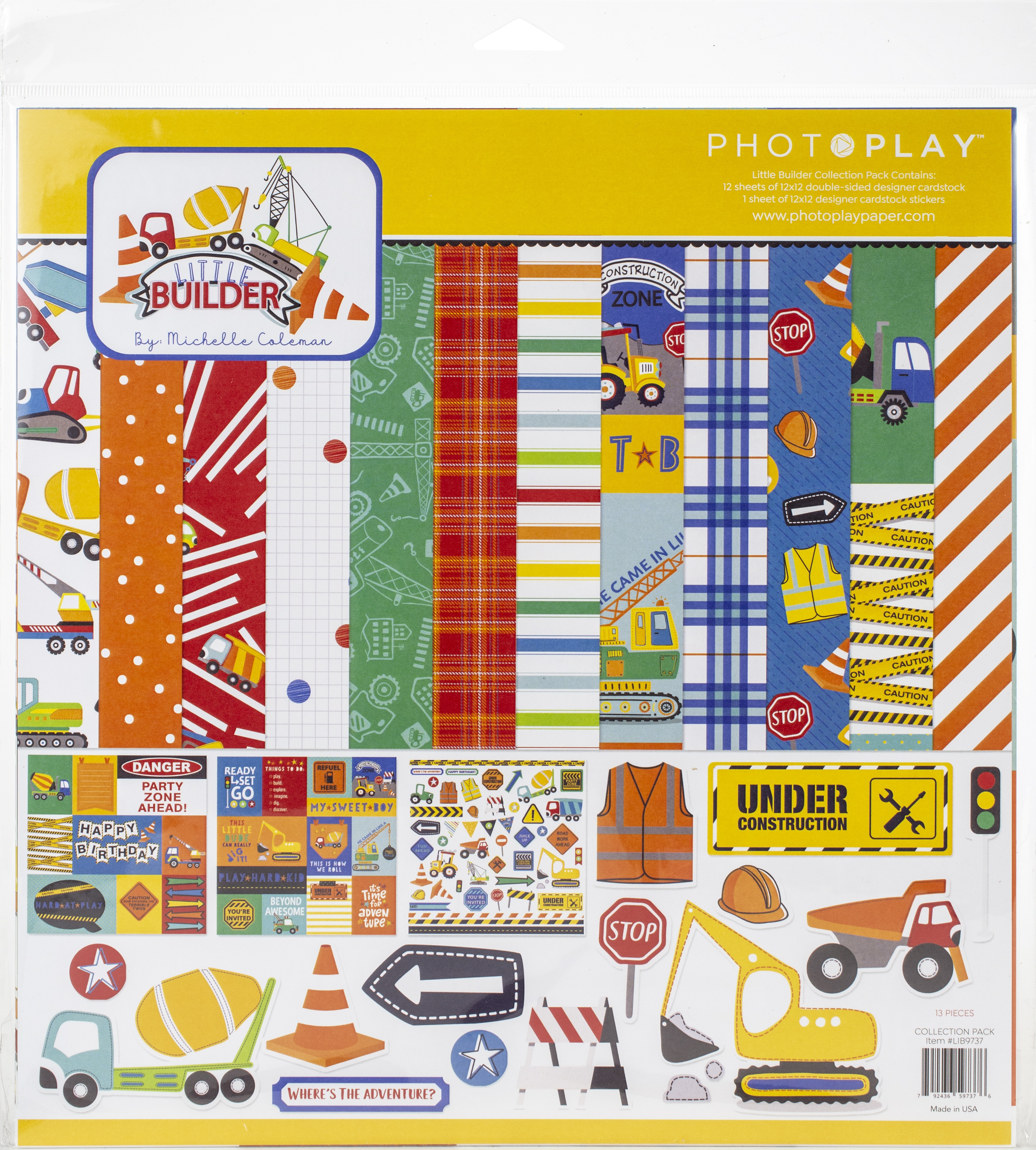PhotoPlay Collection Pack 12X12-Little Builder