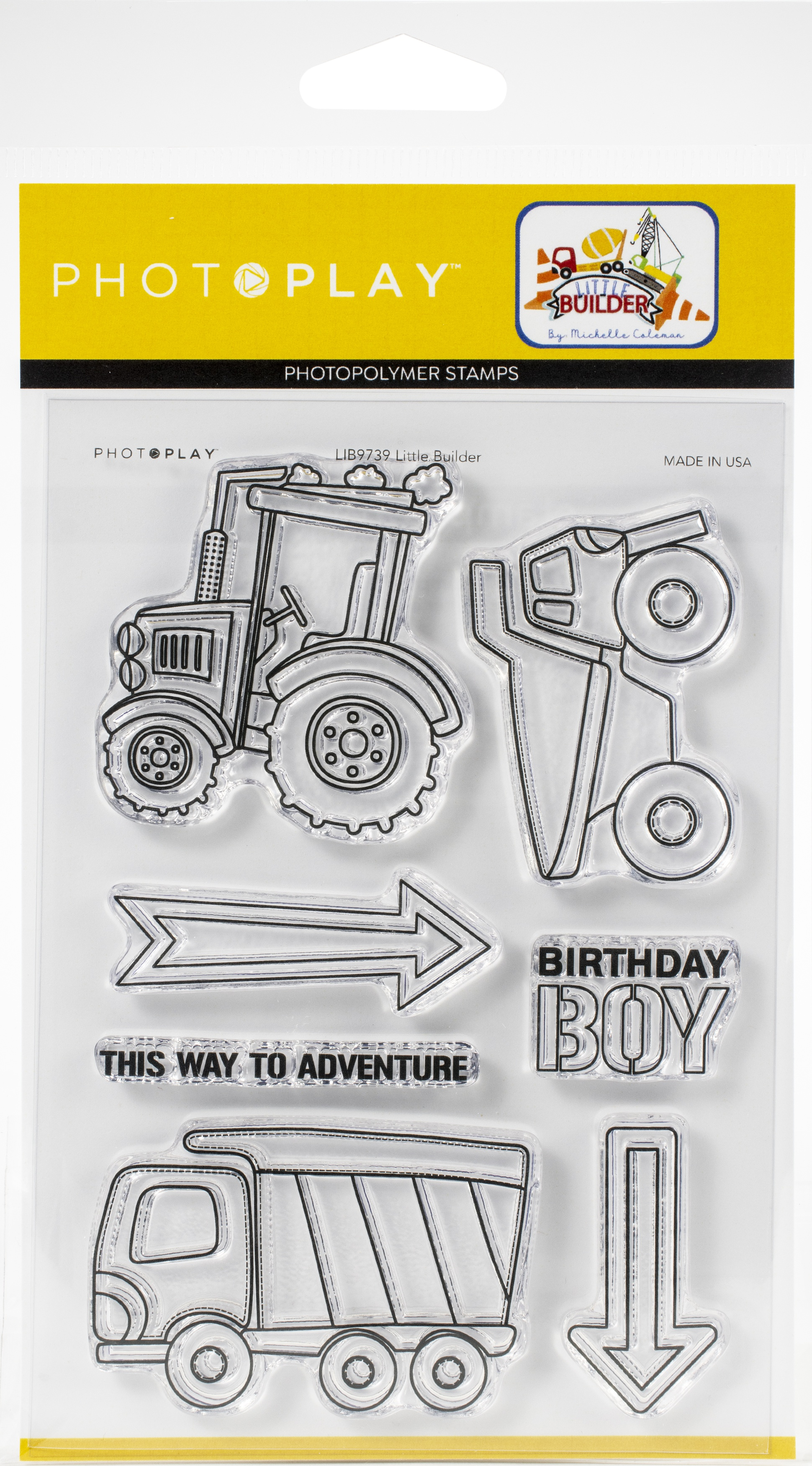 PhotoPlay Photopolymer Stamp-Little Builder