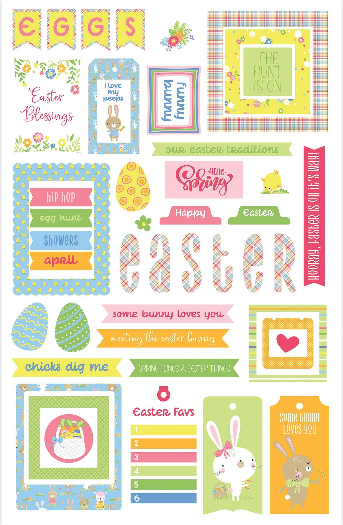 PhotoPlay Cardstock Cardstock Ephemera-Easter Wishes