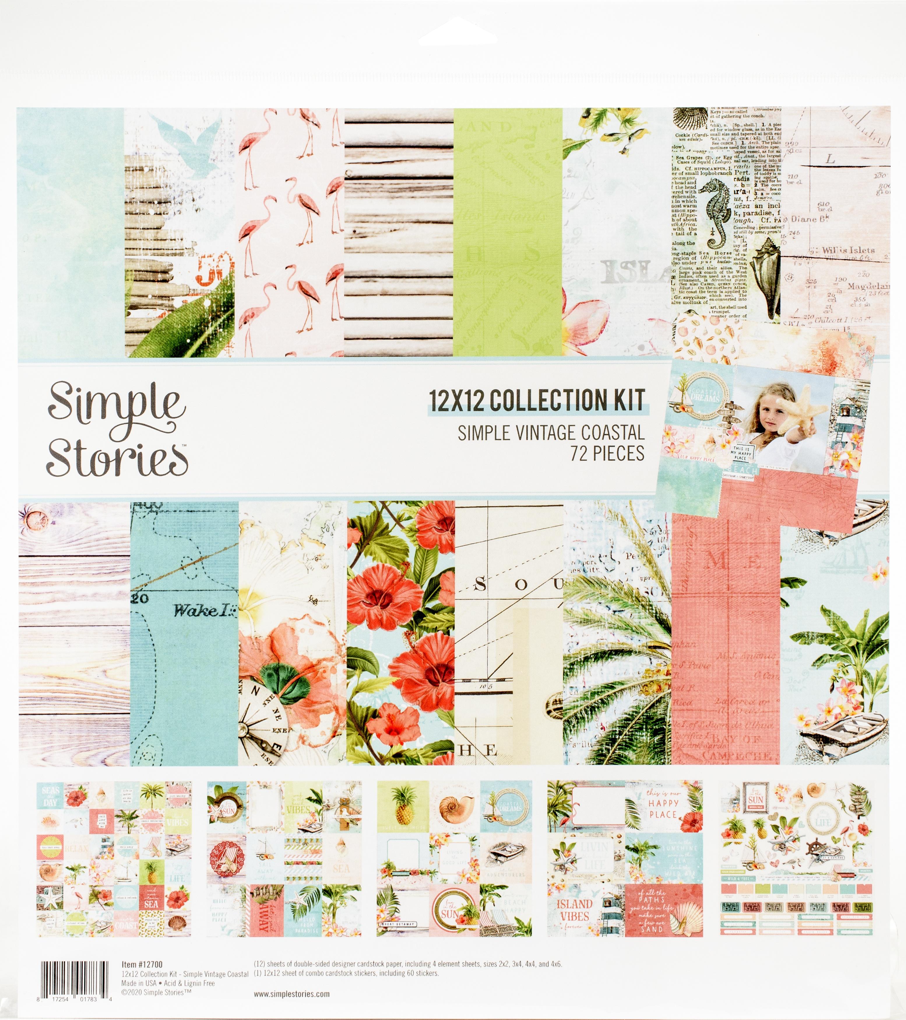 Simple Stories Collection Kit 12X12-Simple Vintage Coastal