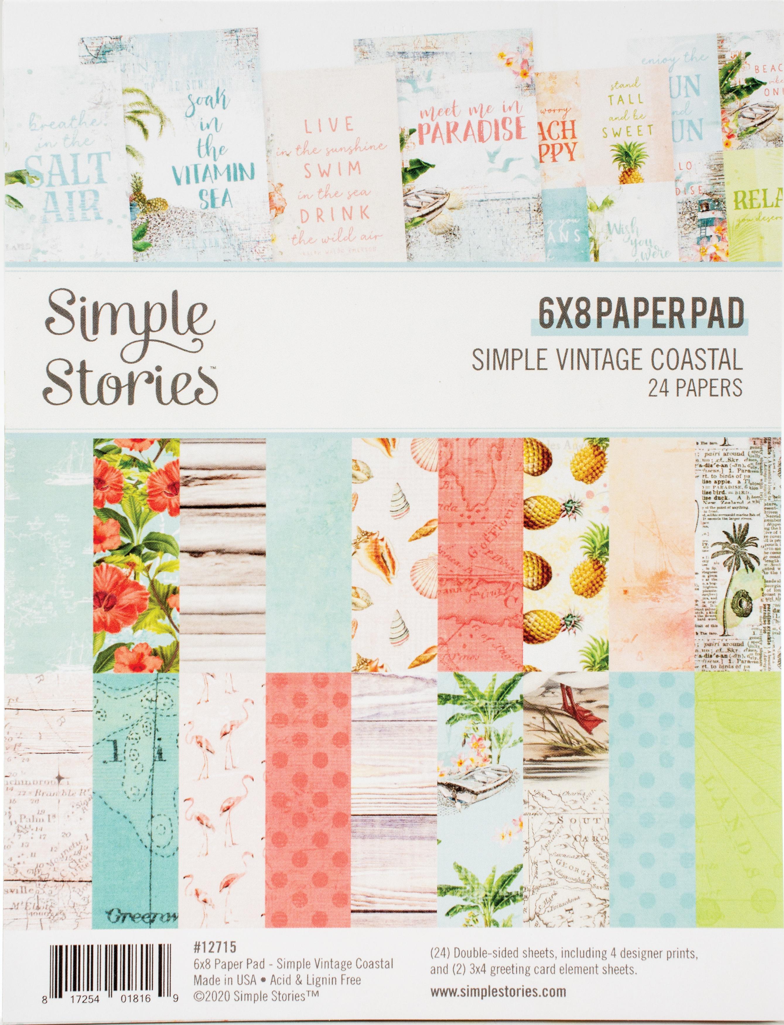 Simple Stories Double-Sided Paper Pad 6X8 24/Pkg-Simple Vintage Coastal