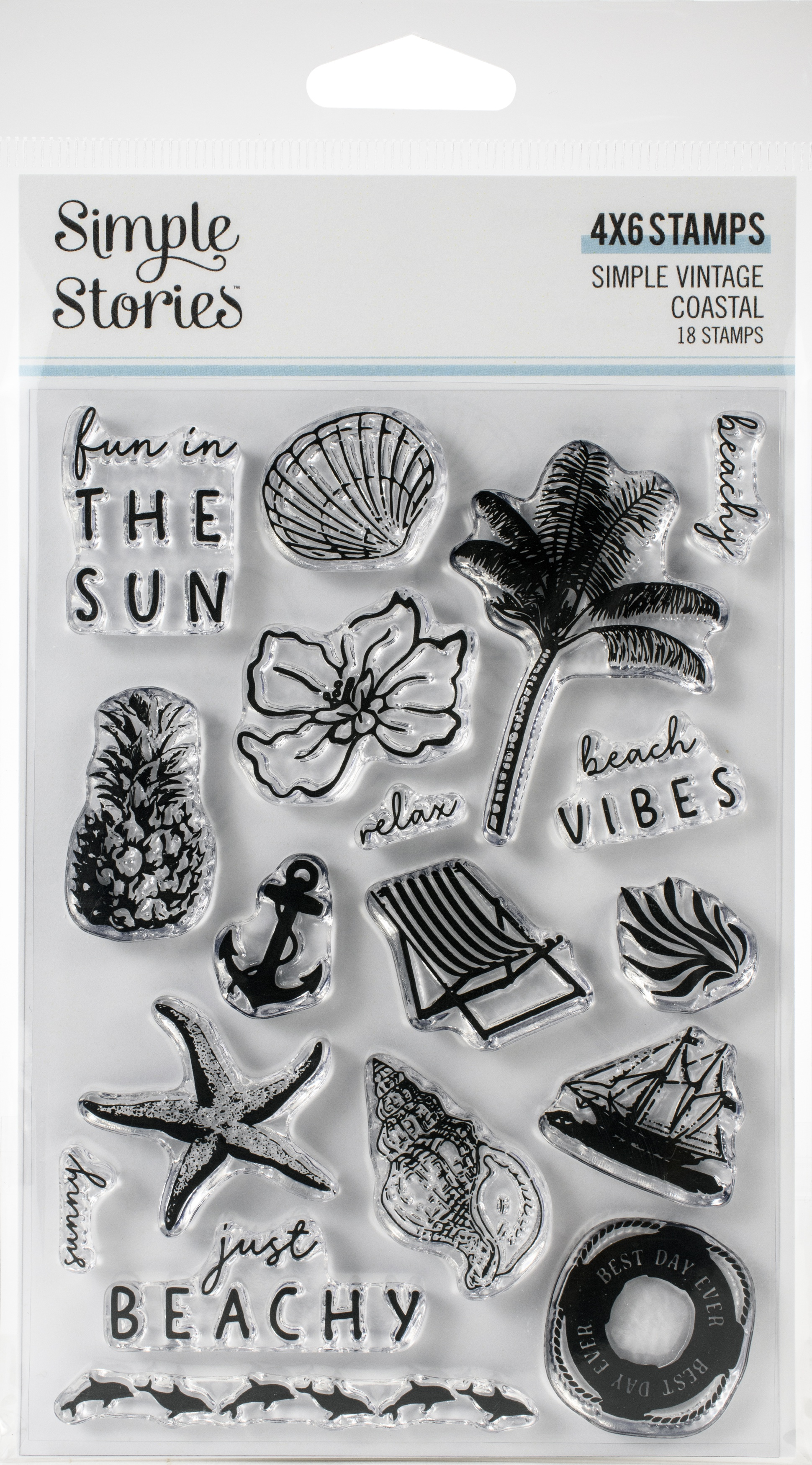 Simple Vintage Coastal Photopolymer Clear Stamps-