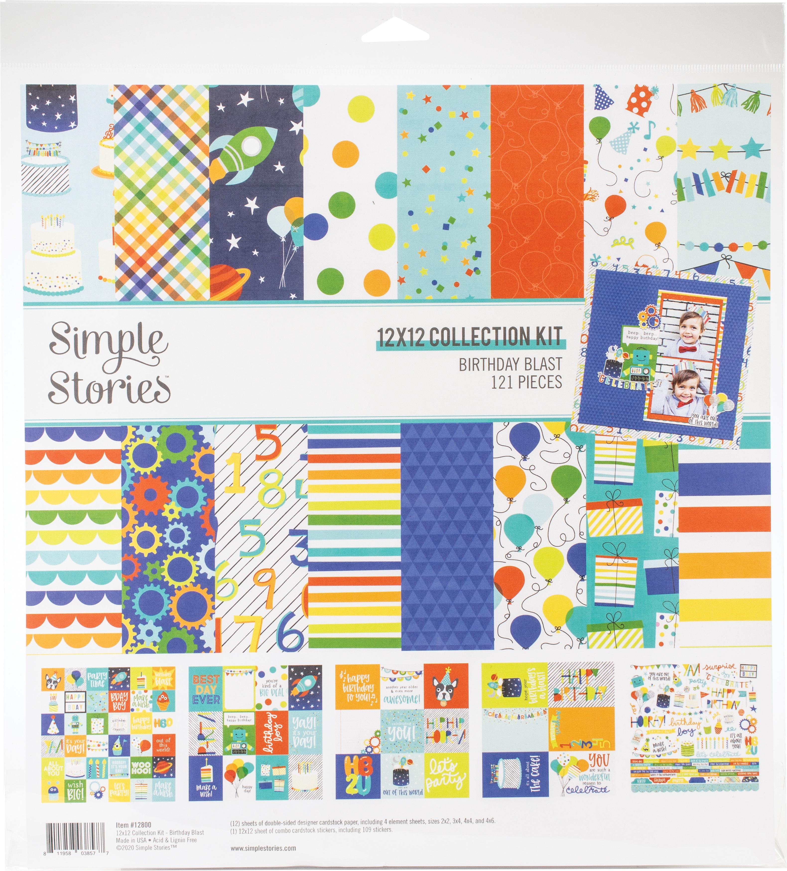 Birthday Blast Collection Kit 12X12 - Simple Stories