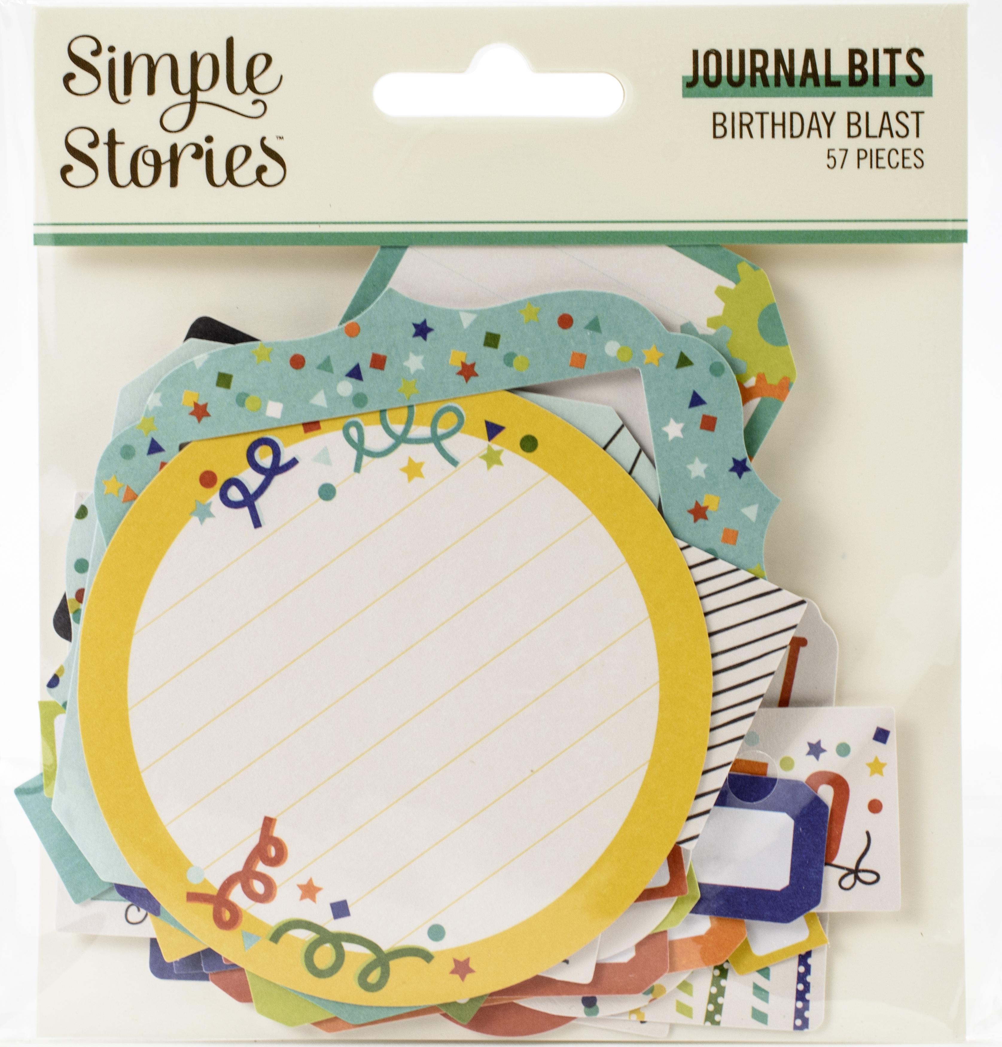 Birthday Blast Bits & Pieces Die-Cuts 56/Pkg-Journal