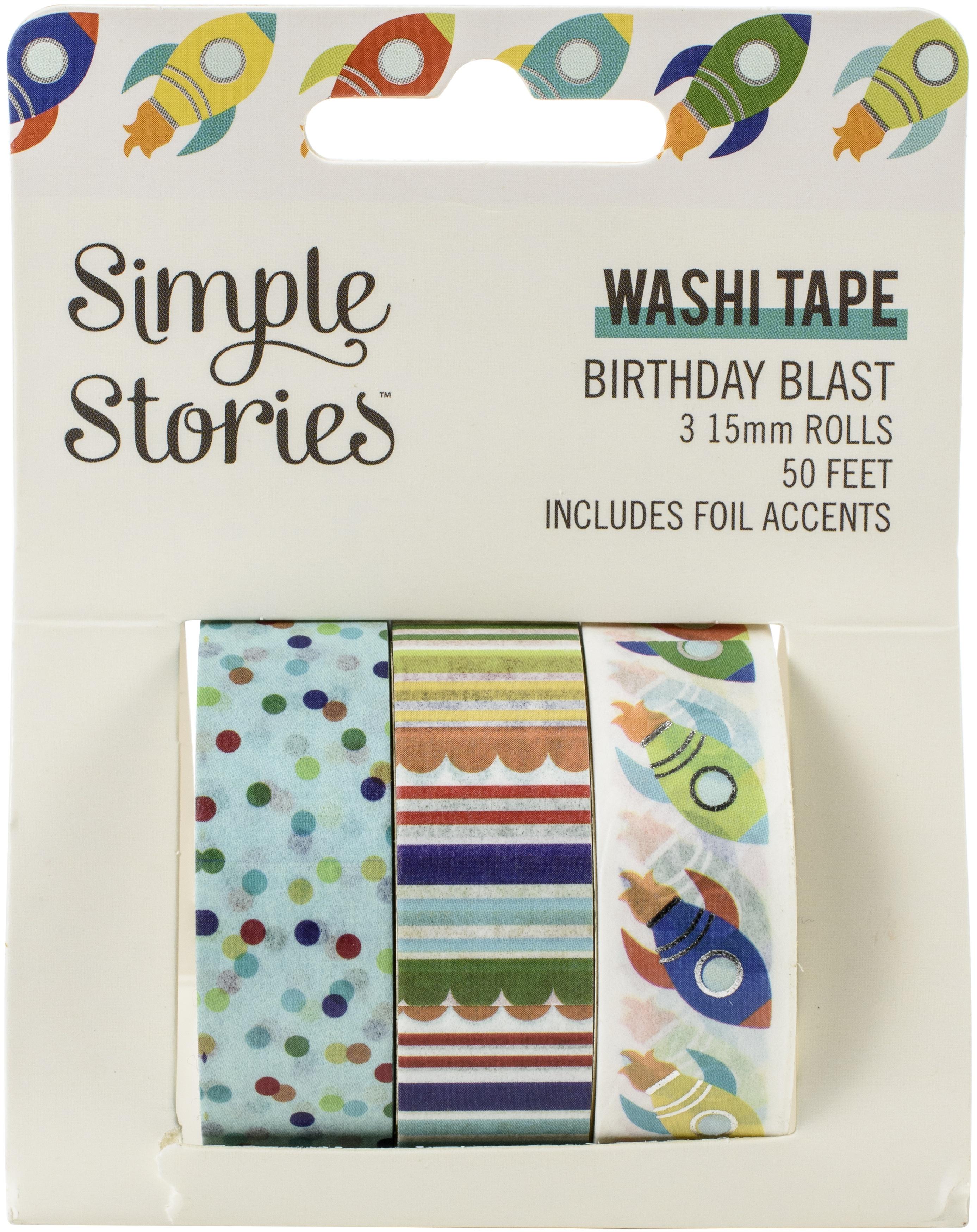 Birthday Blast Washi Tape 3/Pkg