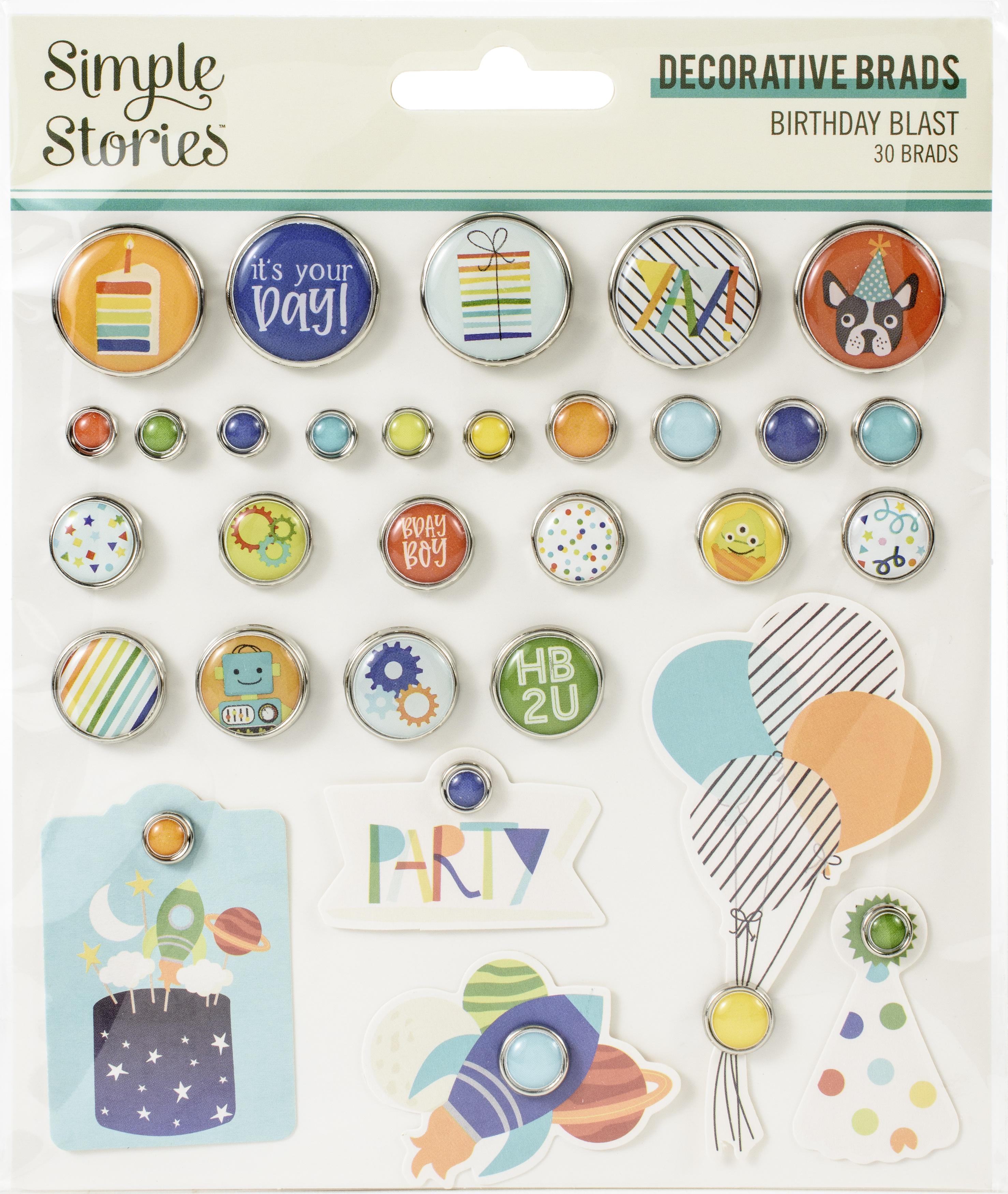 Birthday Blast Decorative Brads