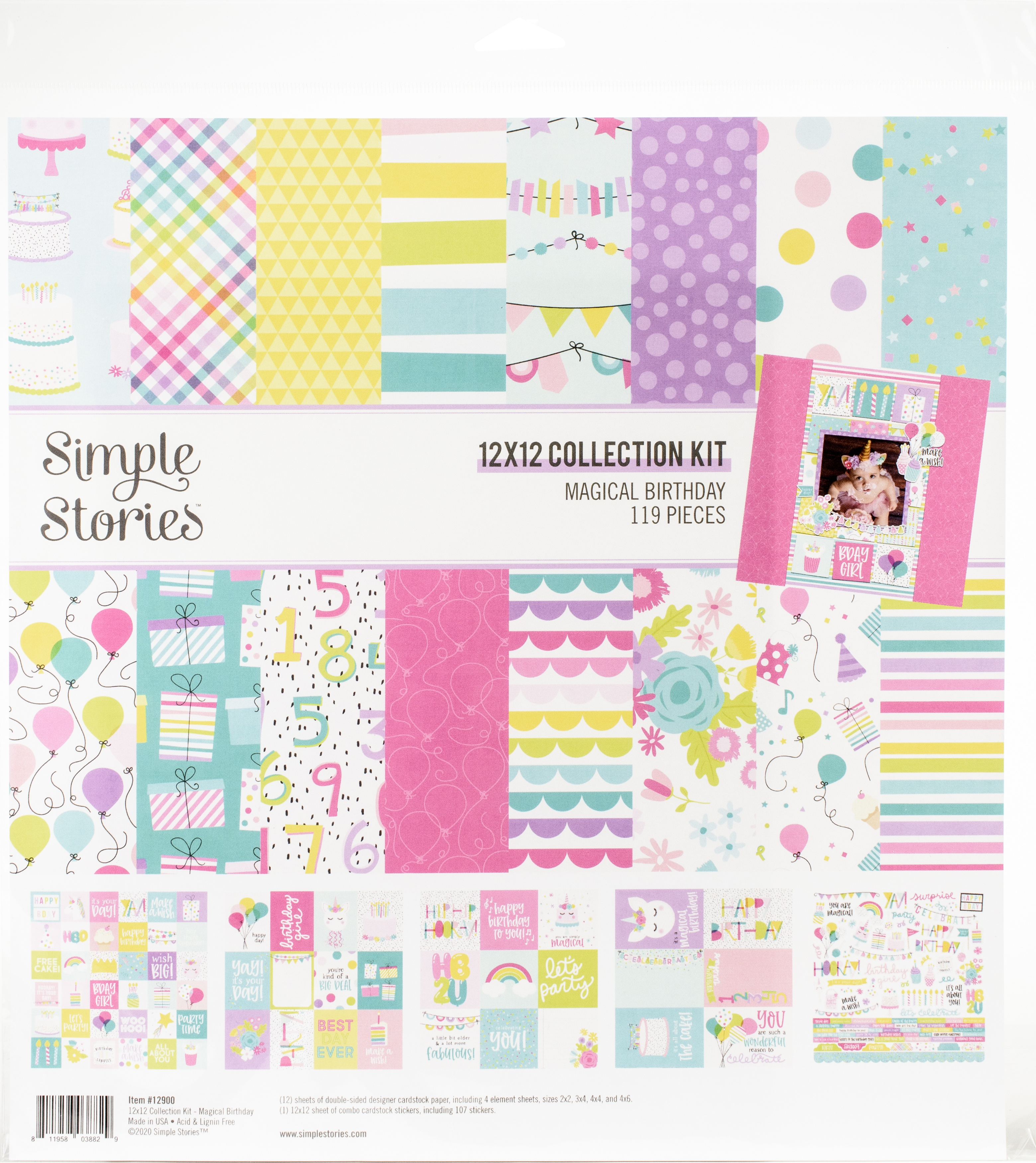 ^Simple Stories Magical Birthday - 12x12 Collection Kit