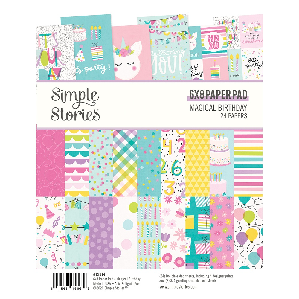 Simple Stories Magical Birthday Paper Pad 6x8