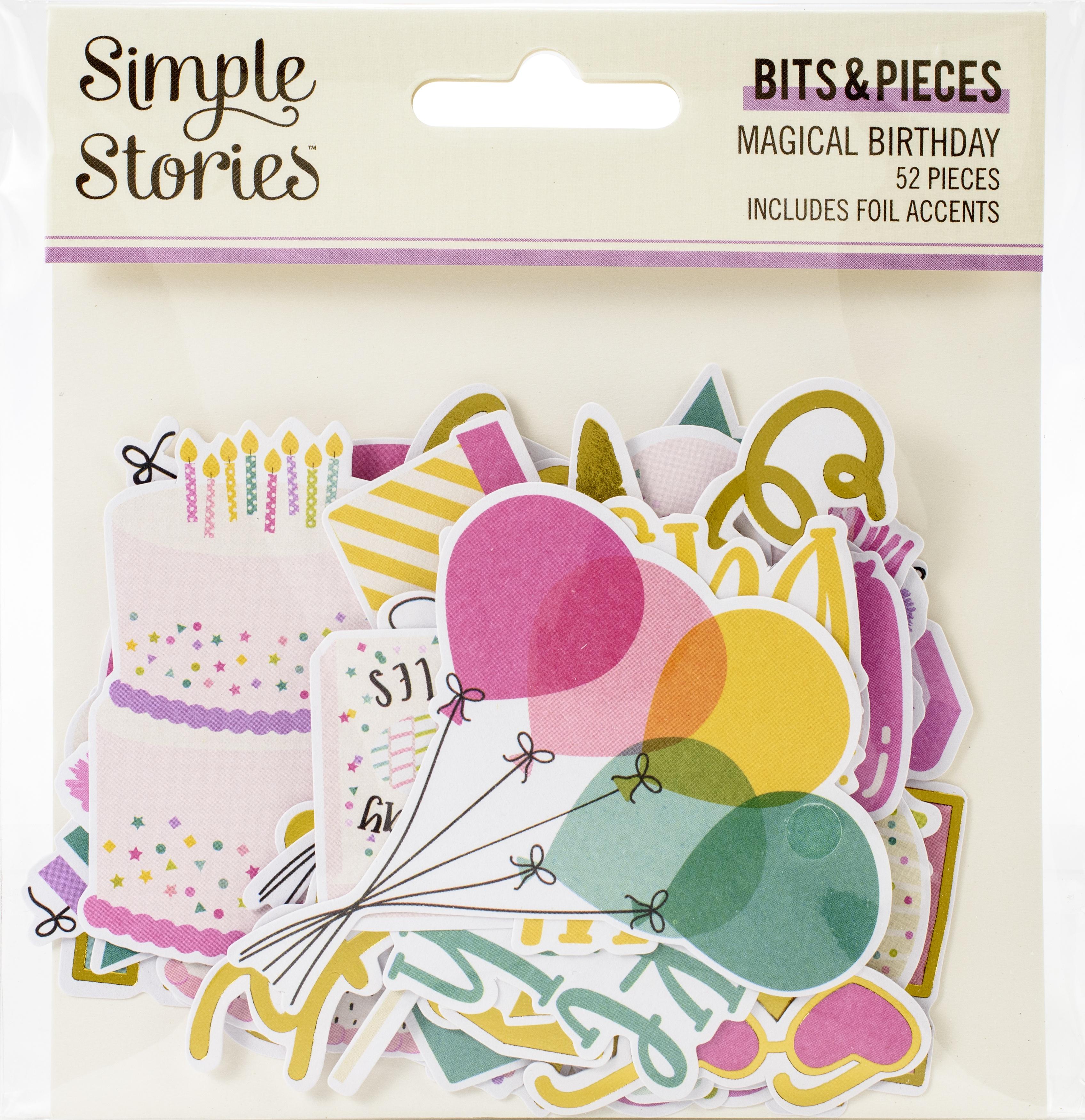Magical Birthday Bits & Pieces Die-Cuts 52/Pkg-