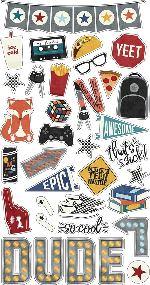 Bro & Co Chipboard Stickers