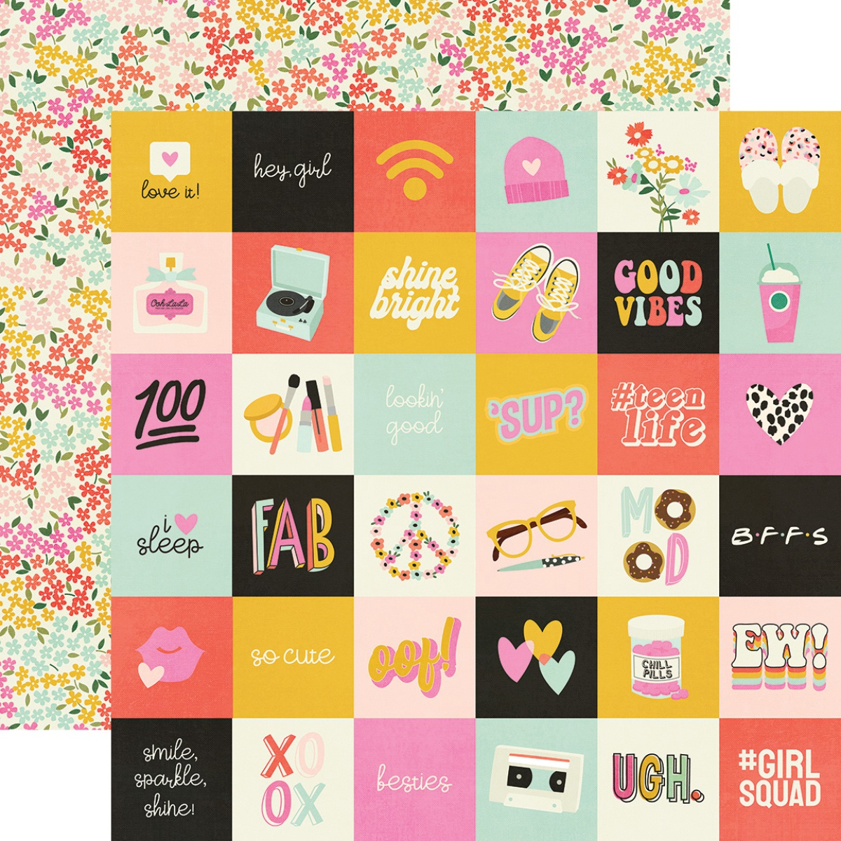 Kate & Ash Double-Sided Cardstock 12X12-2X2 Elements
