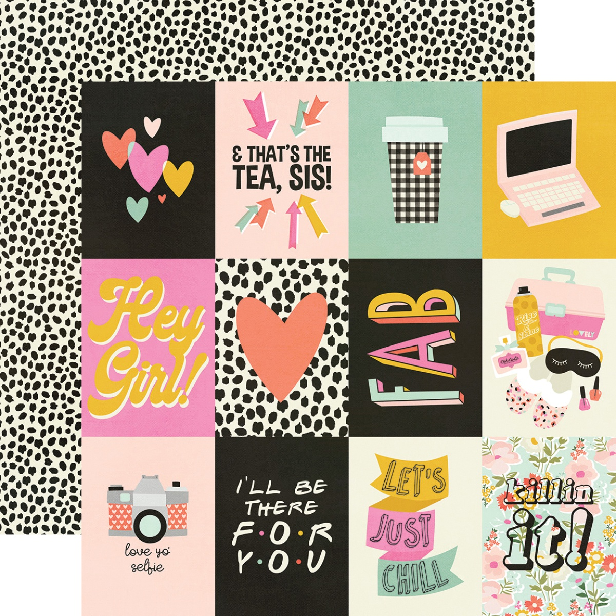 Kate & Ash Double-Sided Cardstock 12X12-3X4 Elements