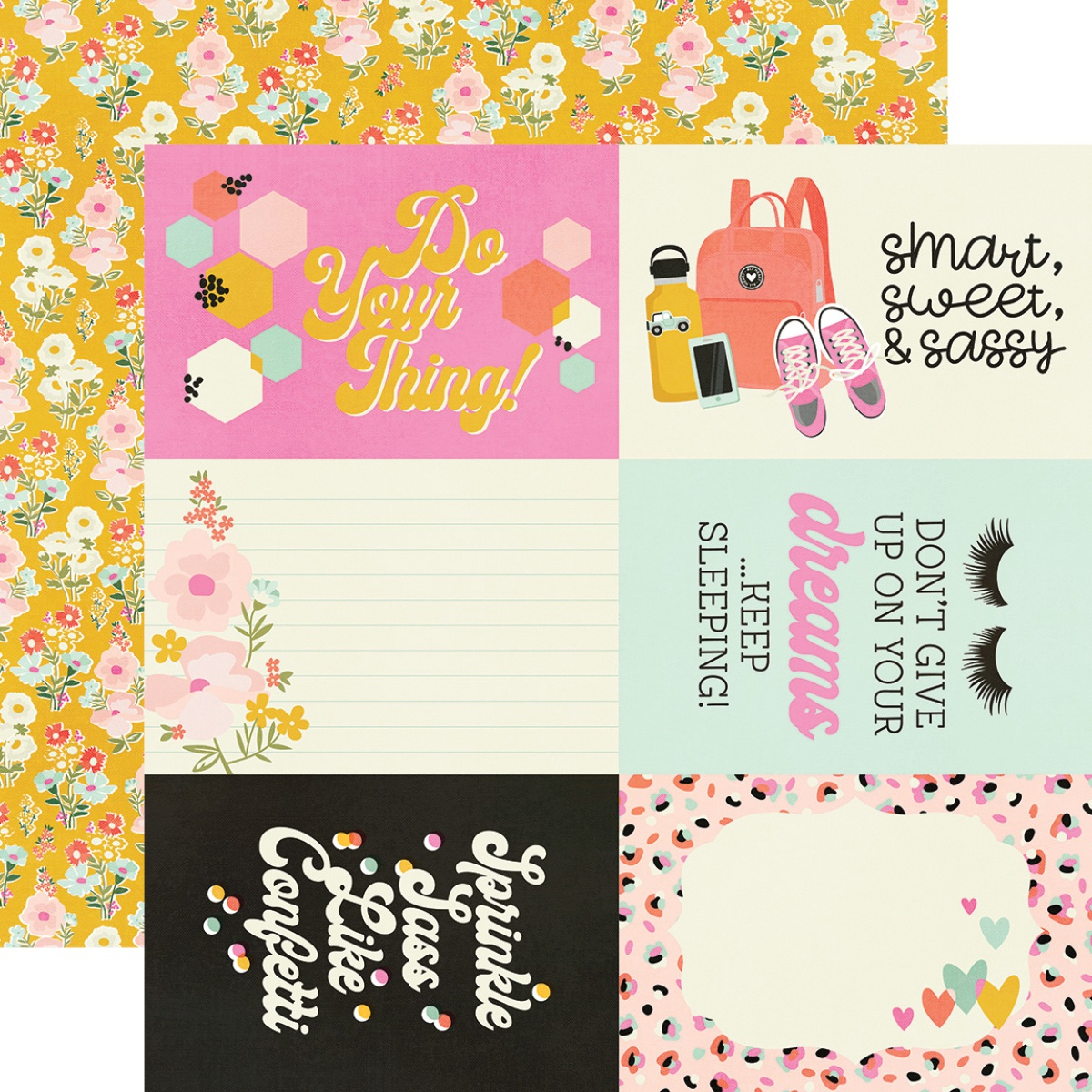 Kate & Ash Double-Sided Cardstock 12X12-4X6 Elements