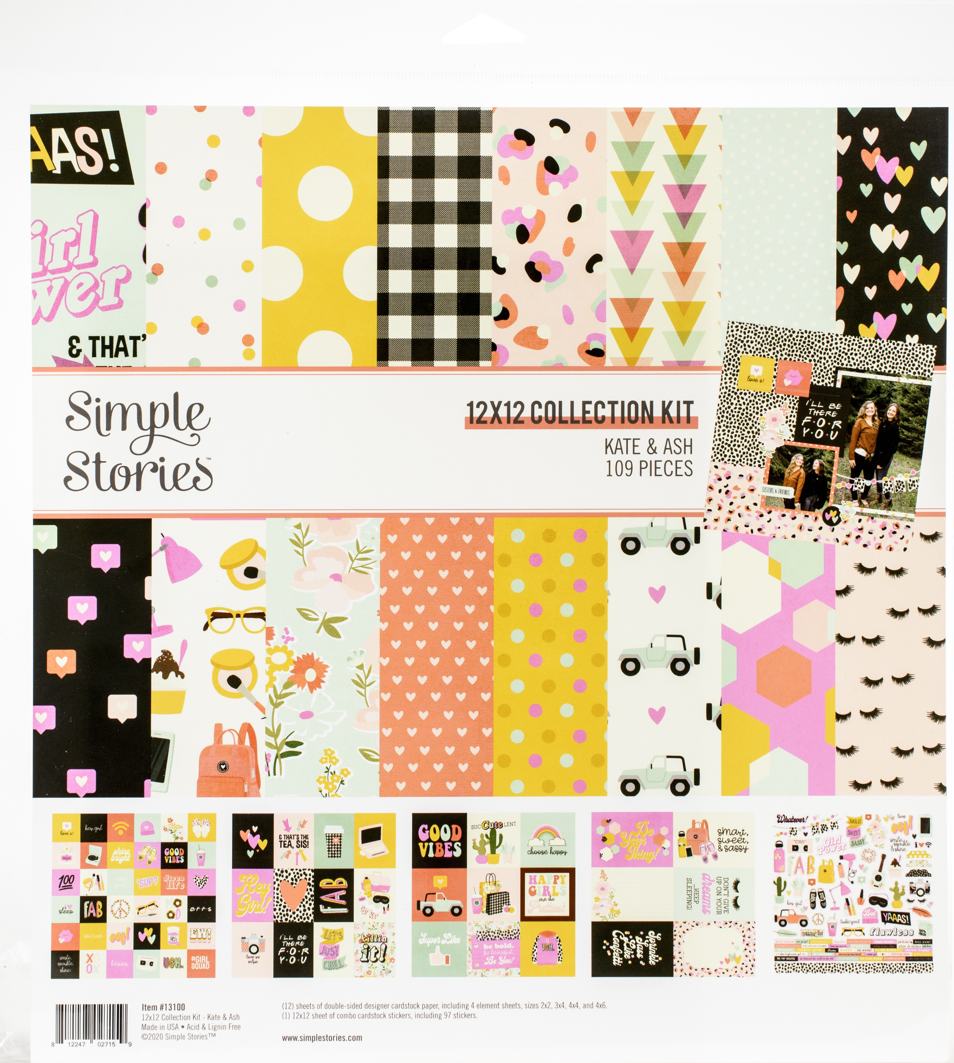 Simple Stories Collection Kit 12X12-Kate & Ash