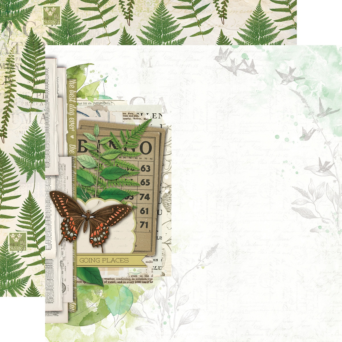 Simple Vintage Great Escape Double-Sided Cardstock 12X12-Wild & Free