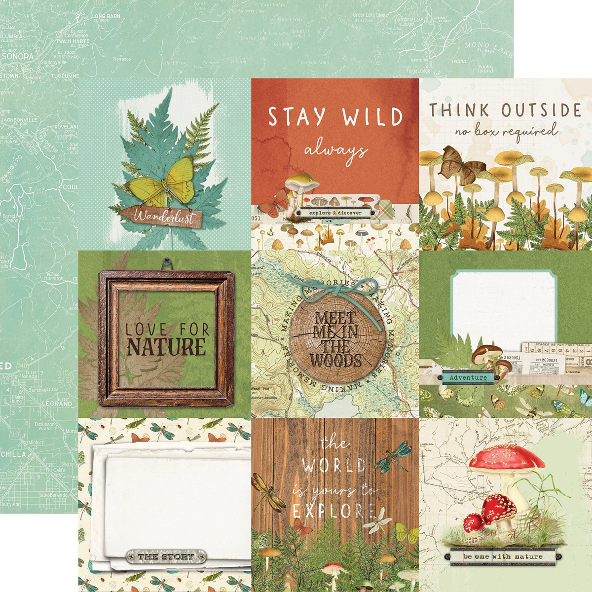 Simple Vintage Great Escape Double-Sided Cardstock 12X12-Nature Lover