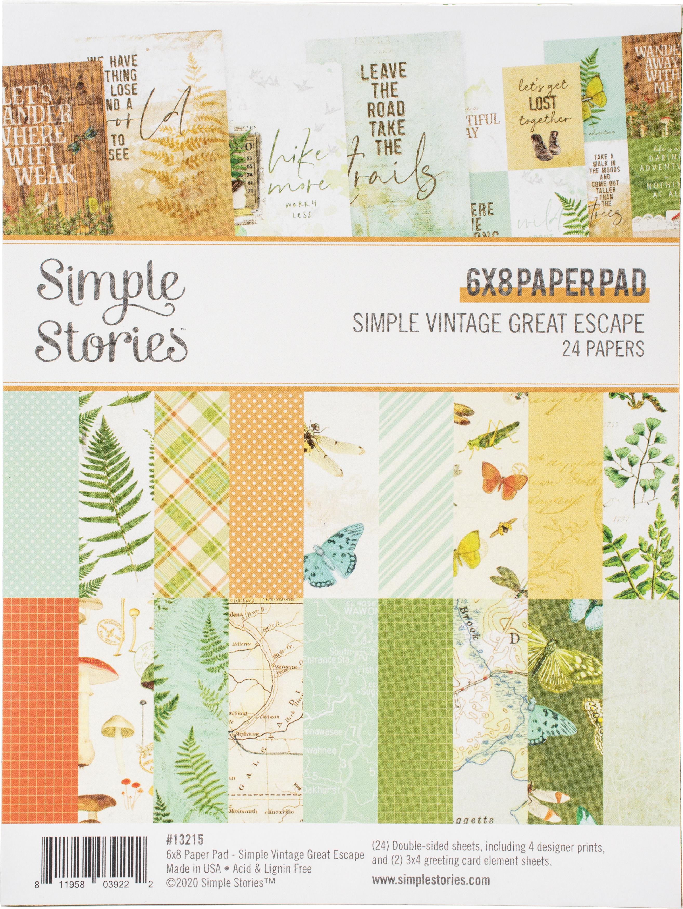 Simple Vintage Great Escape 6x8 pad