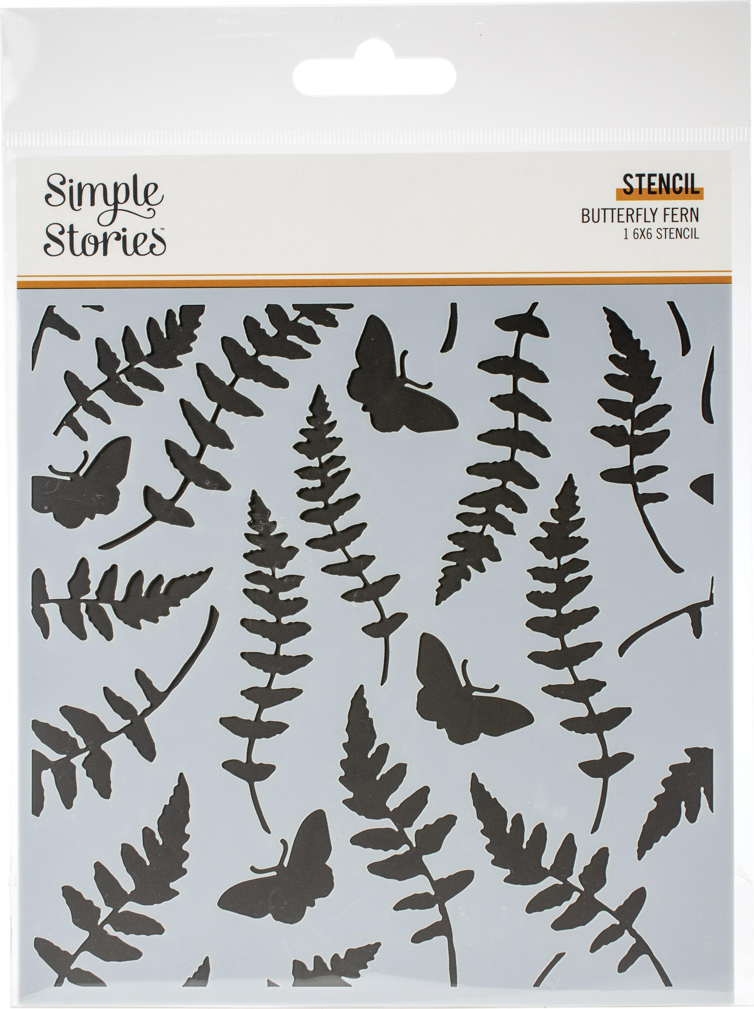 SS Vintage Stencil 6X6-Butterfly Fern