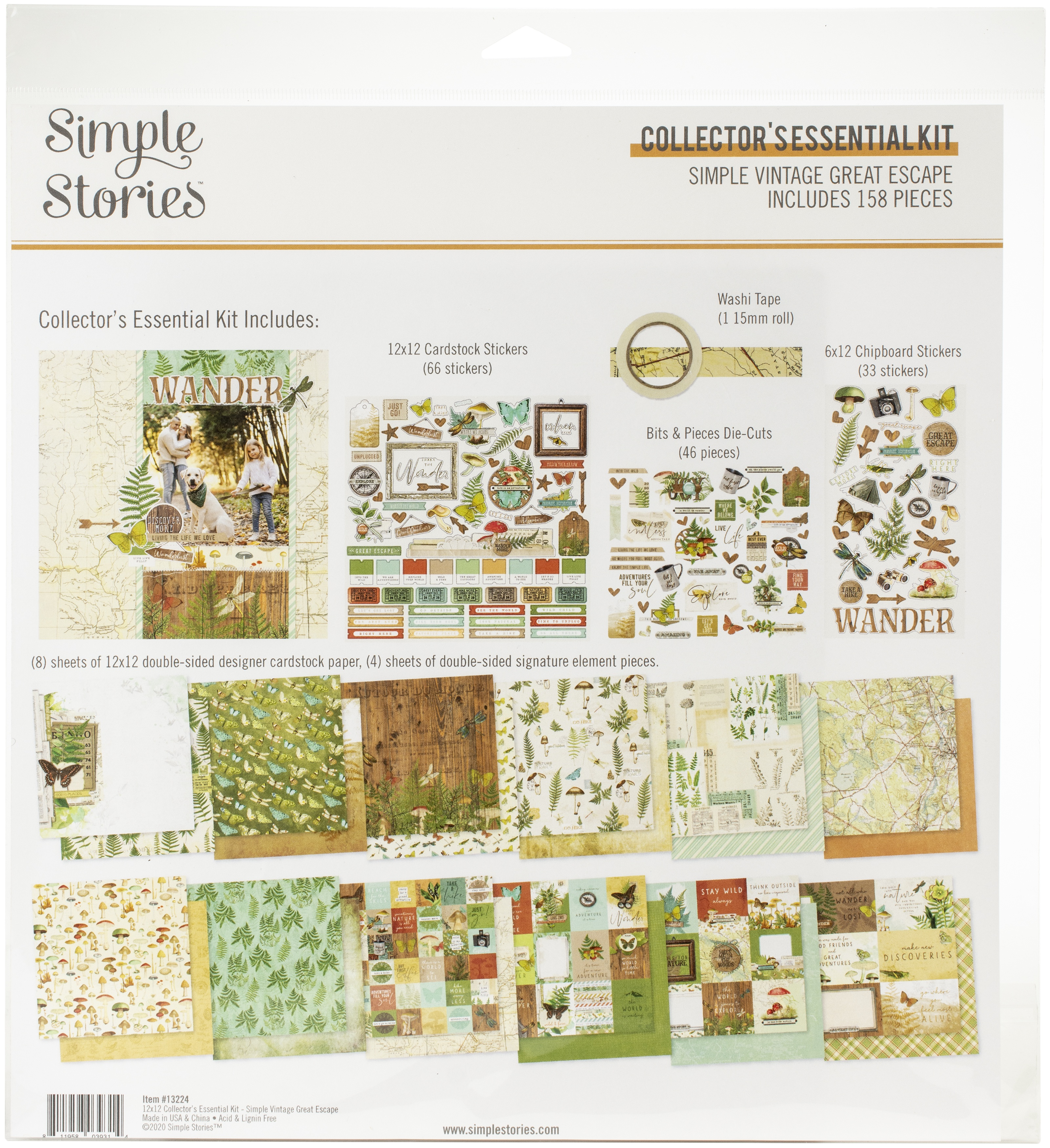 Simple Stories Collector's Essential Kit 12X12-Simple Vintage Great Escape