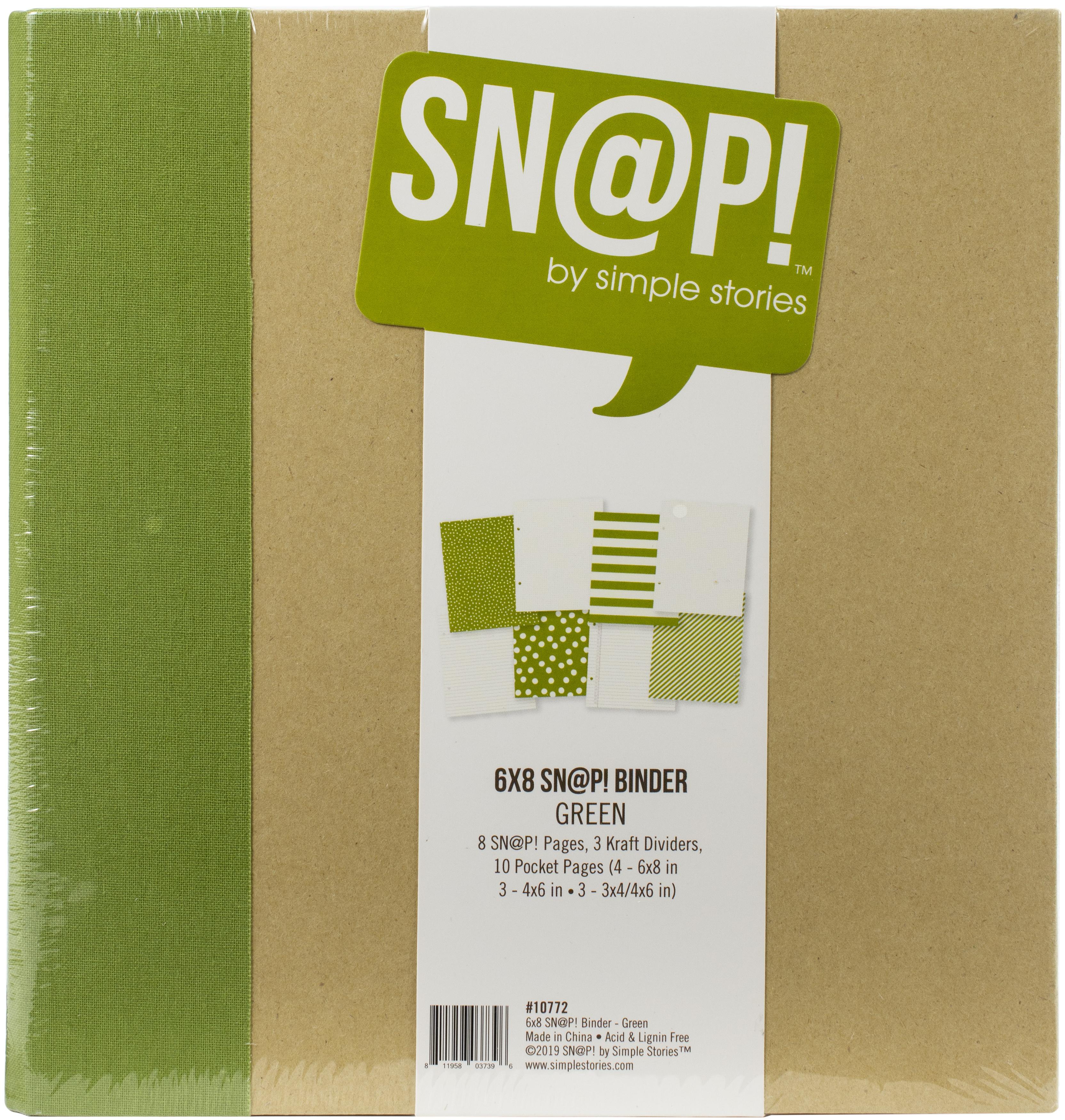Simple Stories Sn@p! Binder 6X8-Green