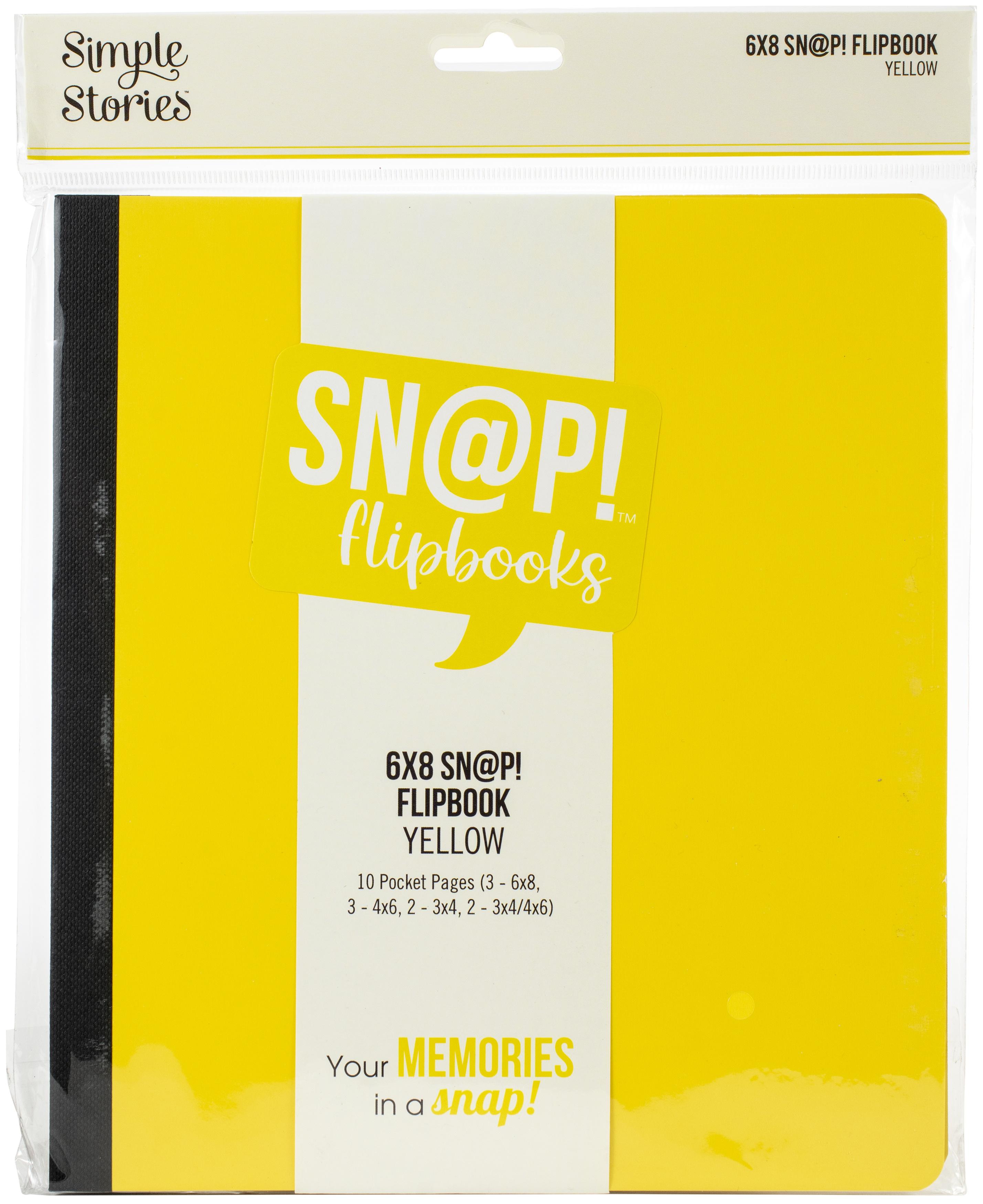 Simple Stories Sn@p! Flipbook 6X8-Yellow