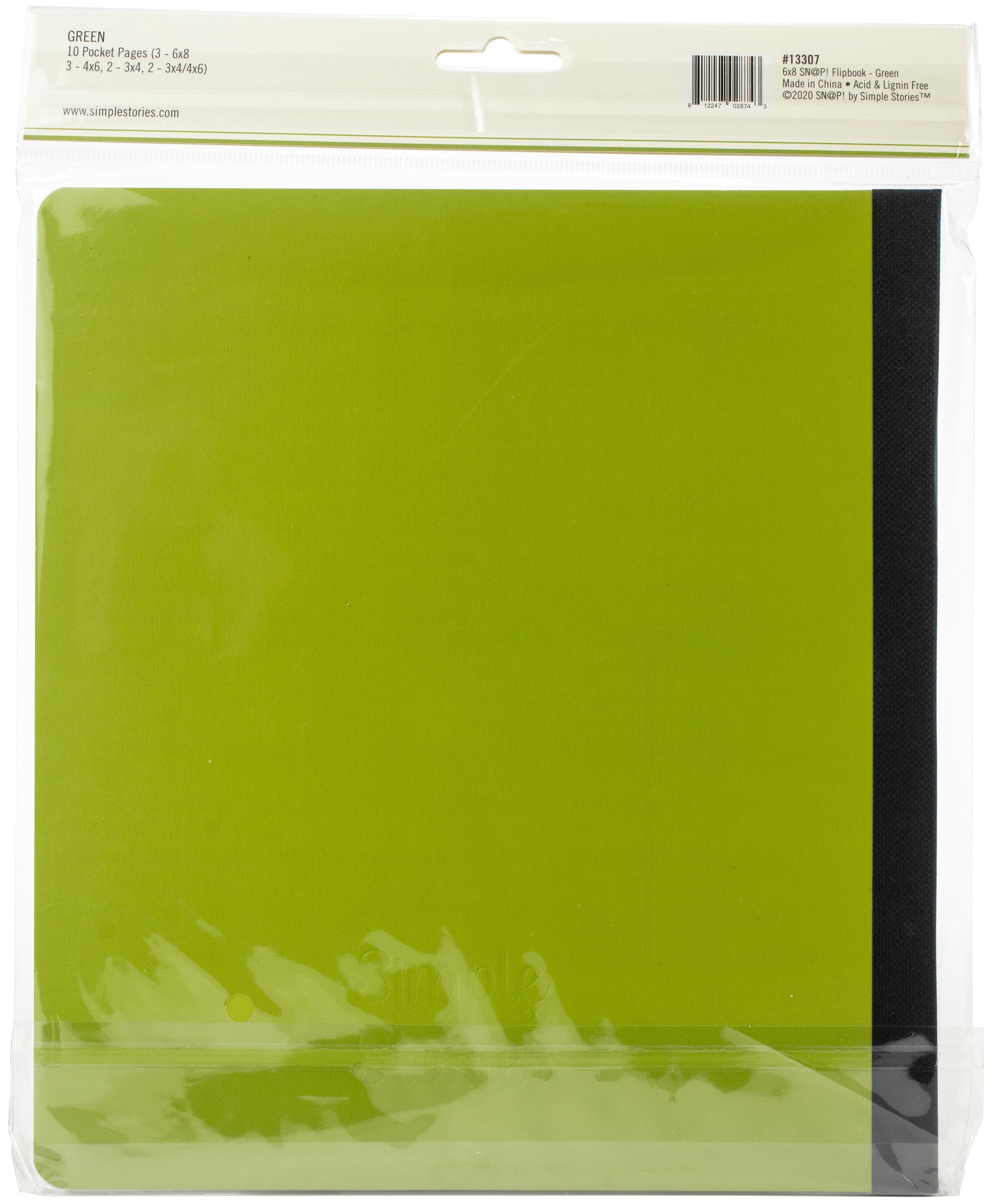 Simple Stories Sn@p! Flipbook 6X8-Green
