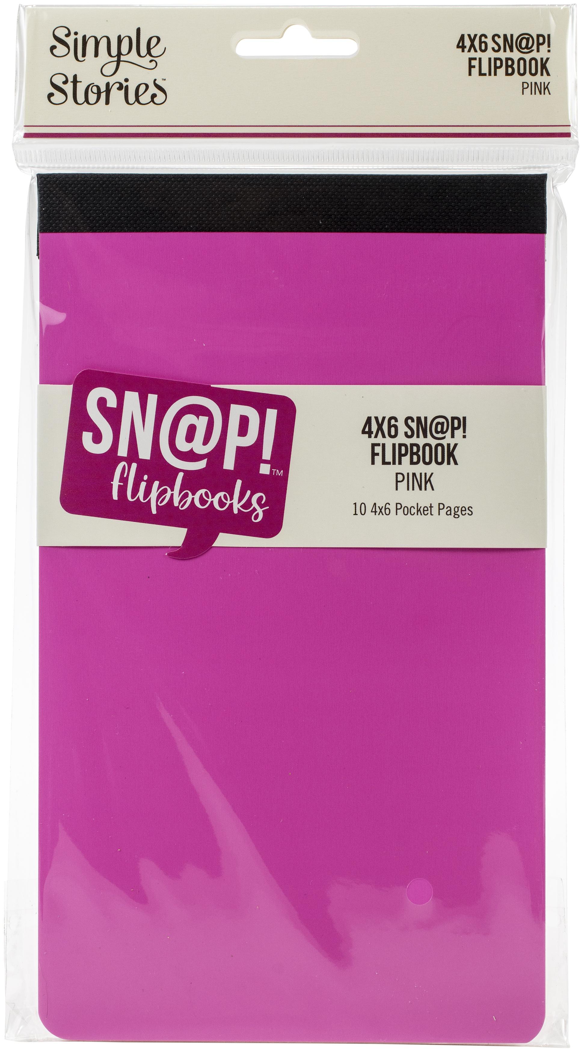 Simple Stories Sn@p! Flipbook 4X6-Pink