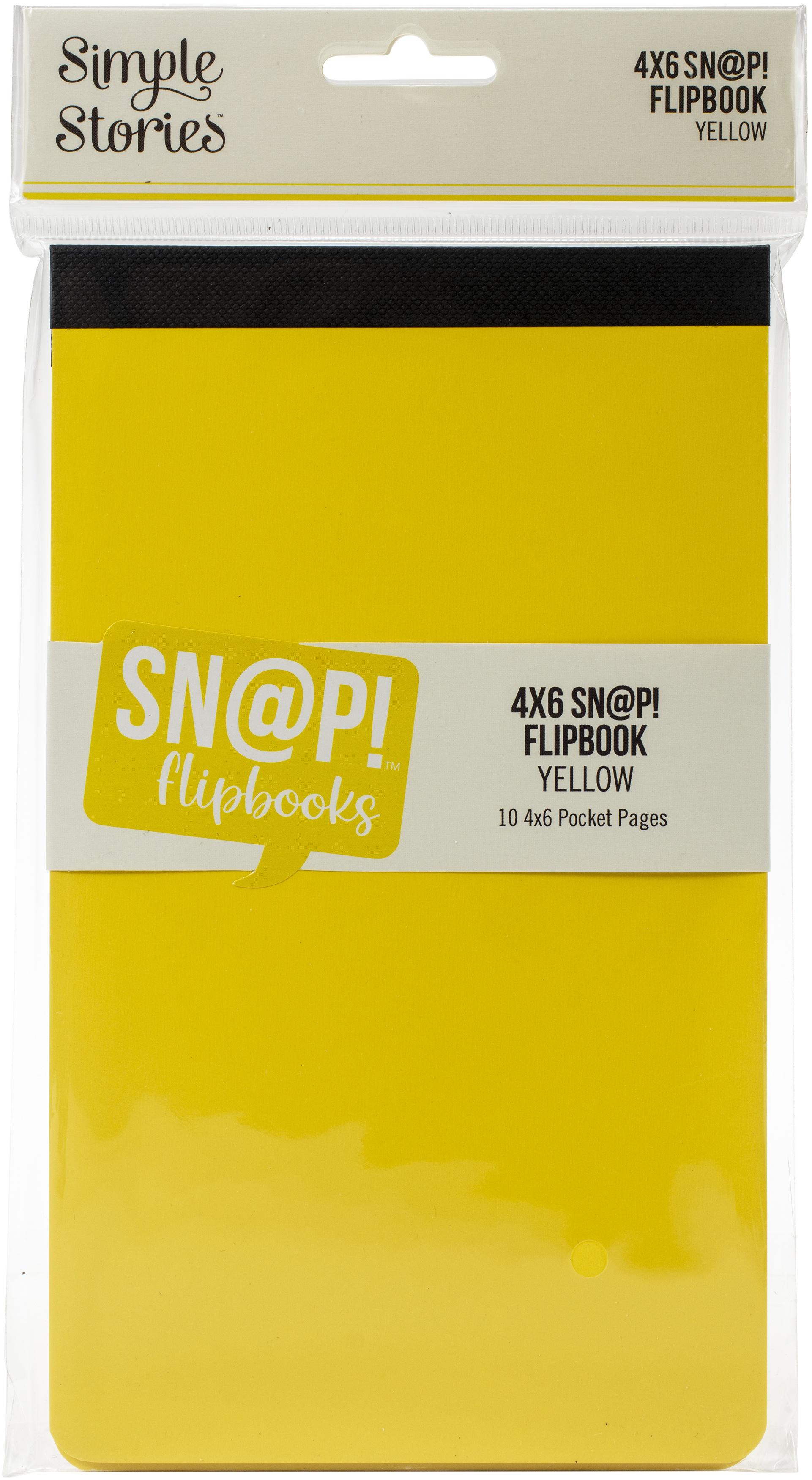 Simple Stories Sn@p! Flipbook 4X6-Yellow