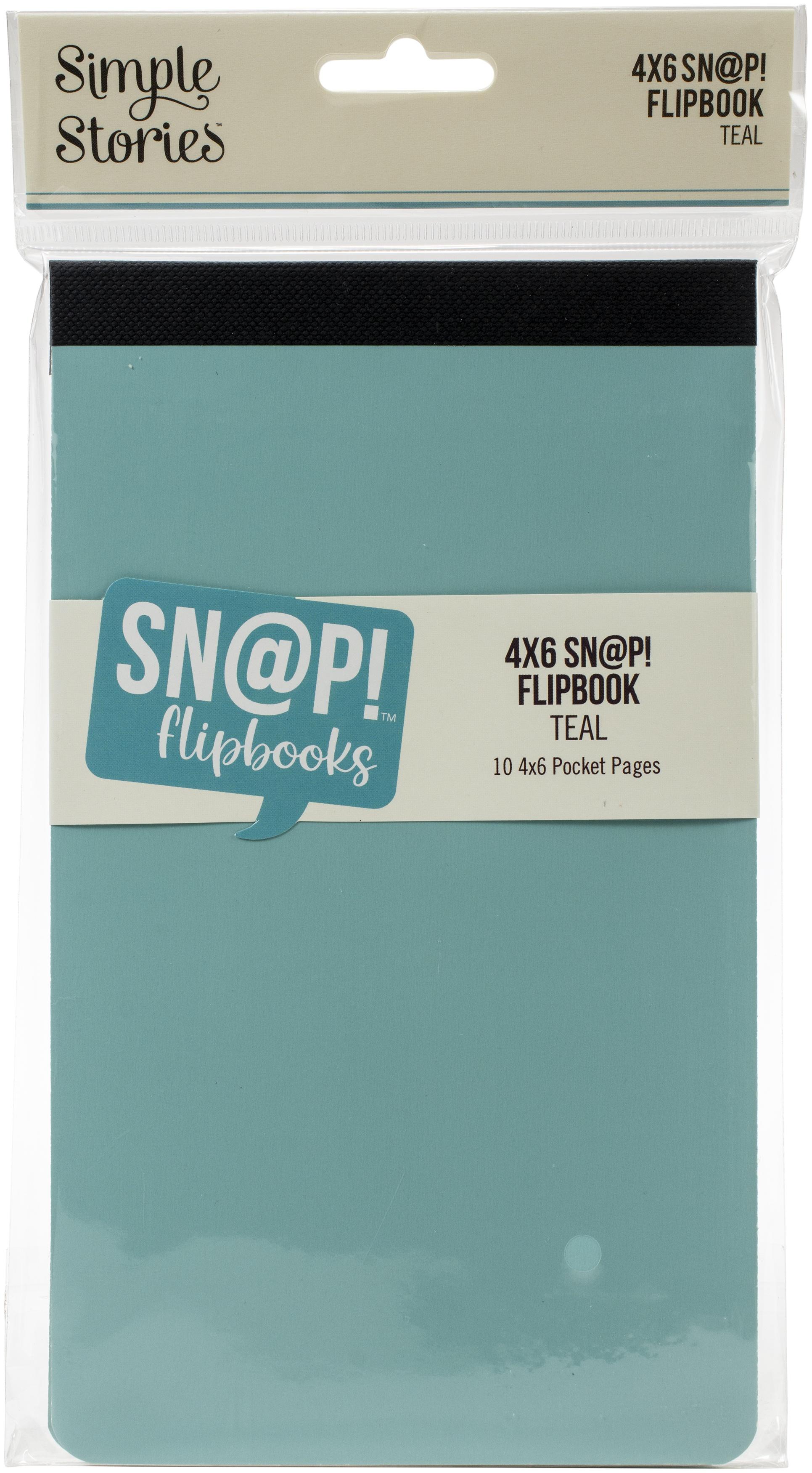 Simple Stories Sn@p! Flipbook 4X6-Teal