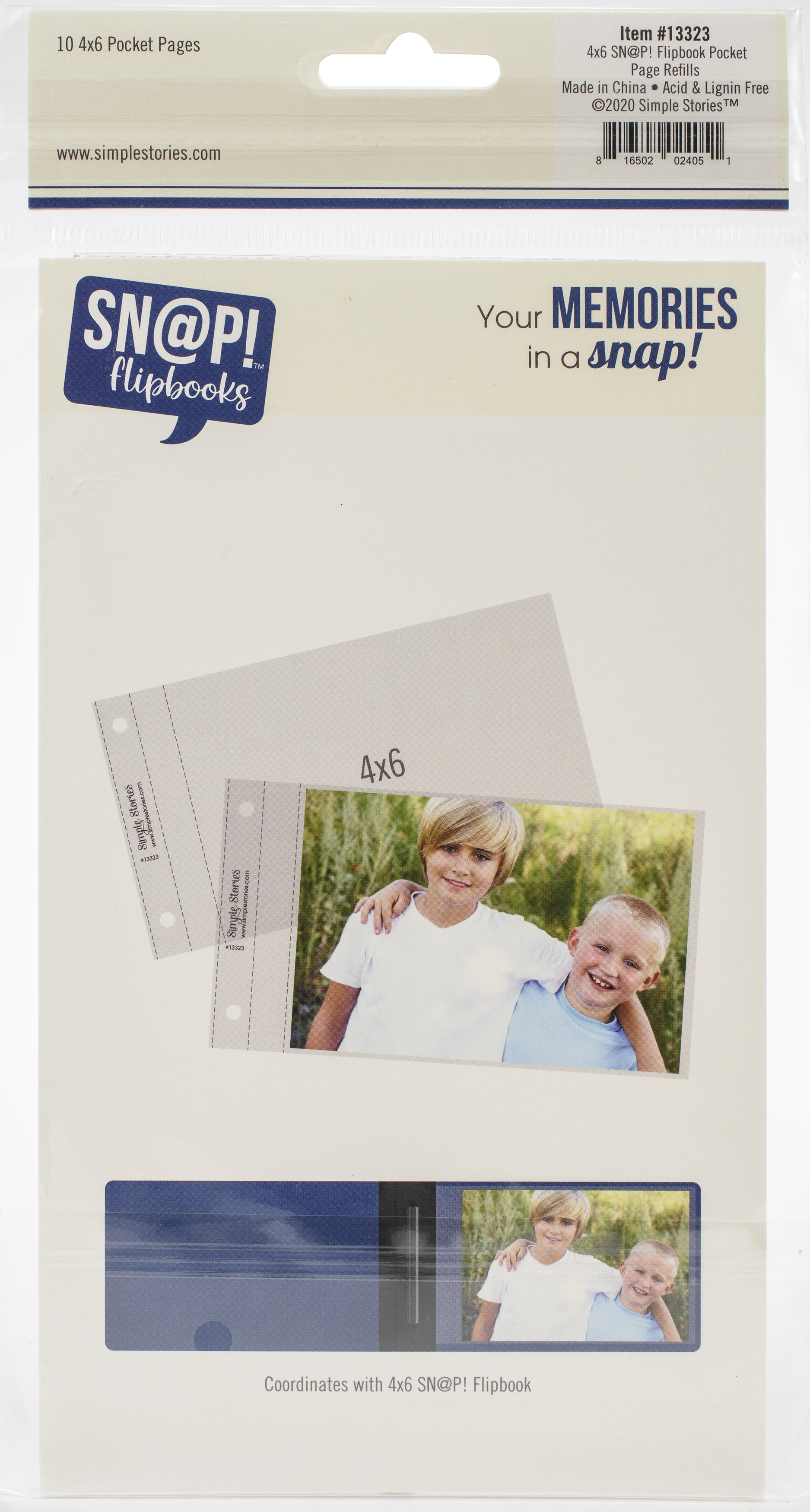 Simple Stories Sn@p! Pocket Pages For 4X6 Flipbooks 10/Pkg-(1) 4X6 Pocket