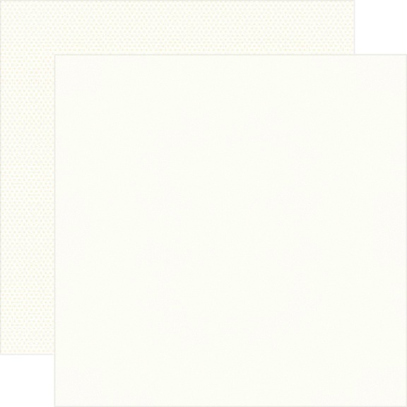 Simple Stories Color Vibe Double-Sided Cardstock 12X12-Warm White Basics