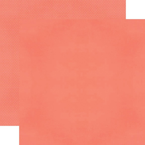 Simple Stories Color Vibe Double-Sided Cardstock 12X12-Coral Bold