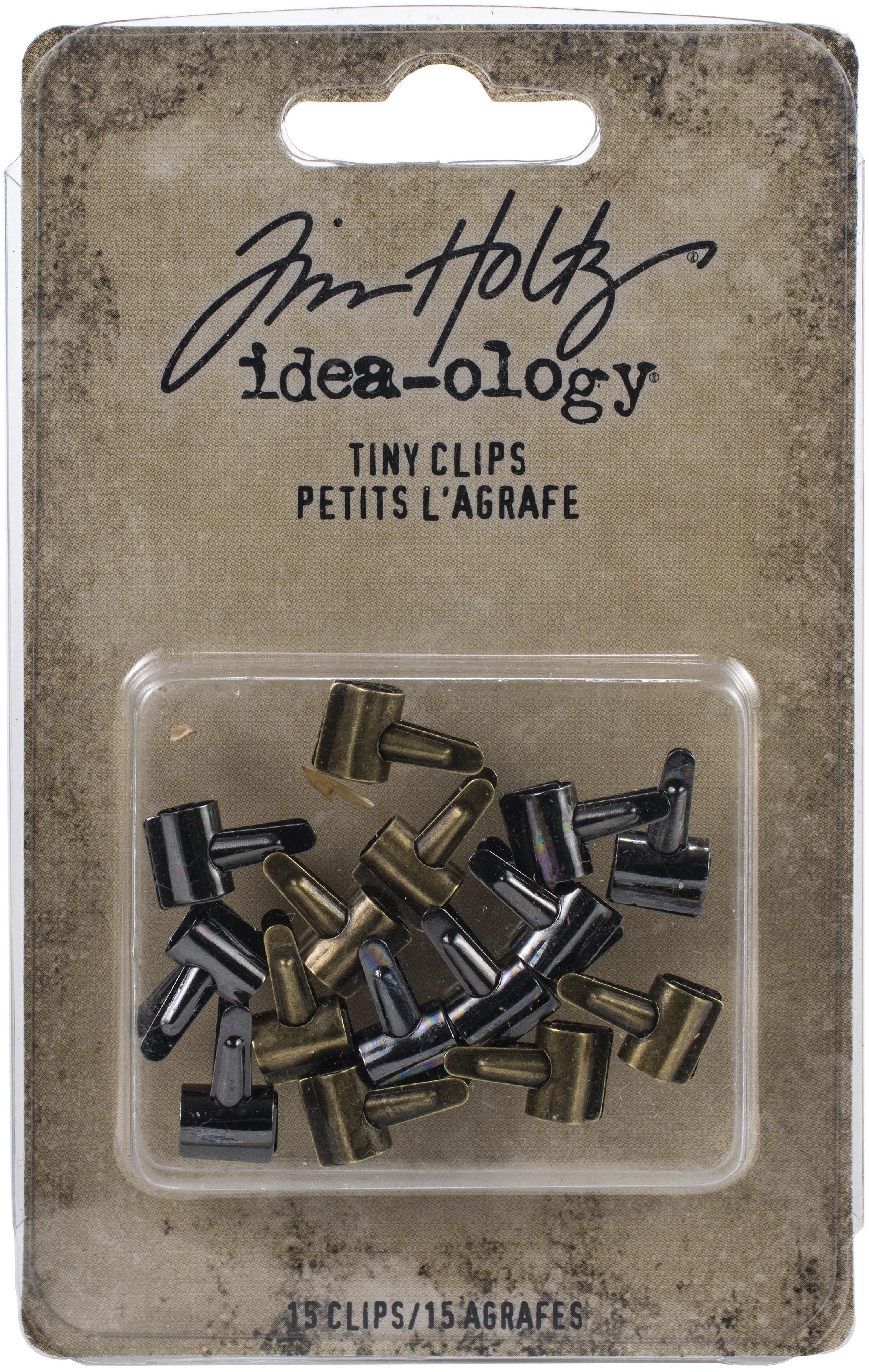 Tim Holtz Idea-Ology Tiny Clips 15/Pkg-