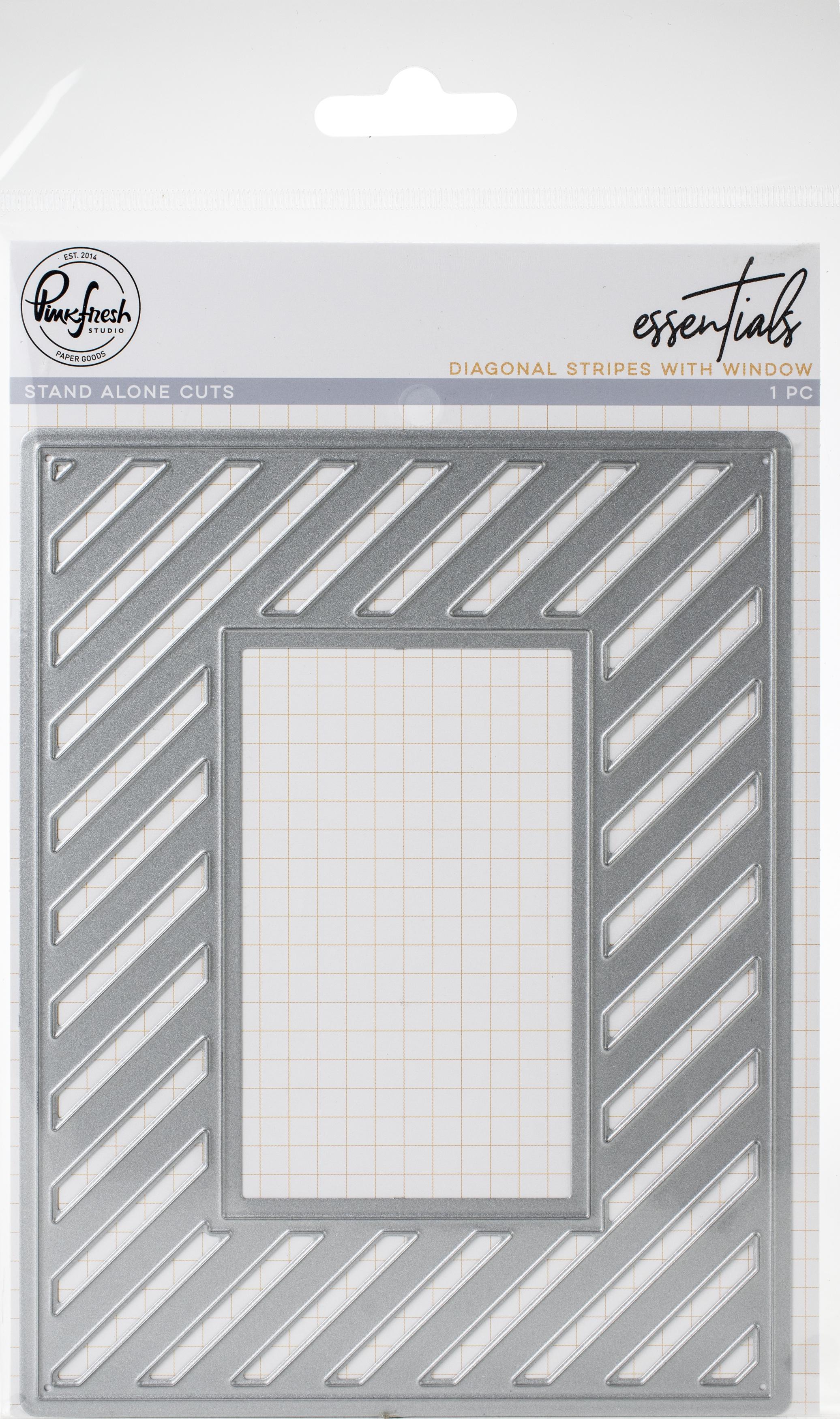 Fancy Diagonal Stripes W/Window Die