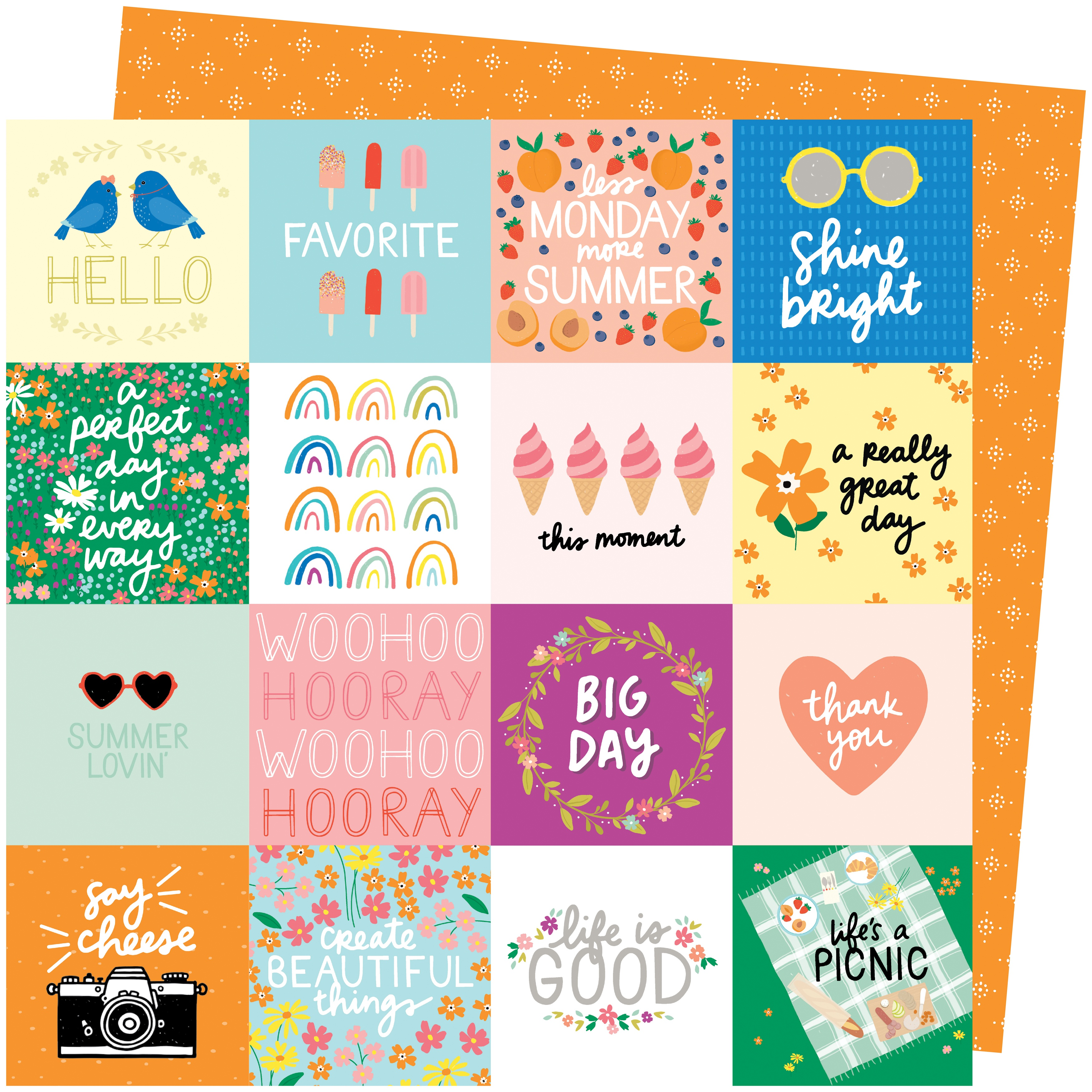 Amy Tan Picnic In The Park Cardstock 12X12-Life's A Picnic