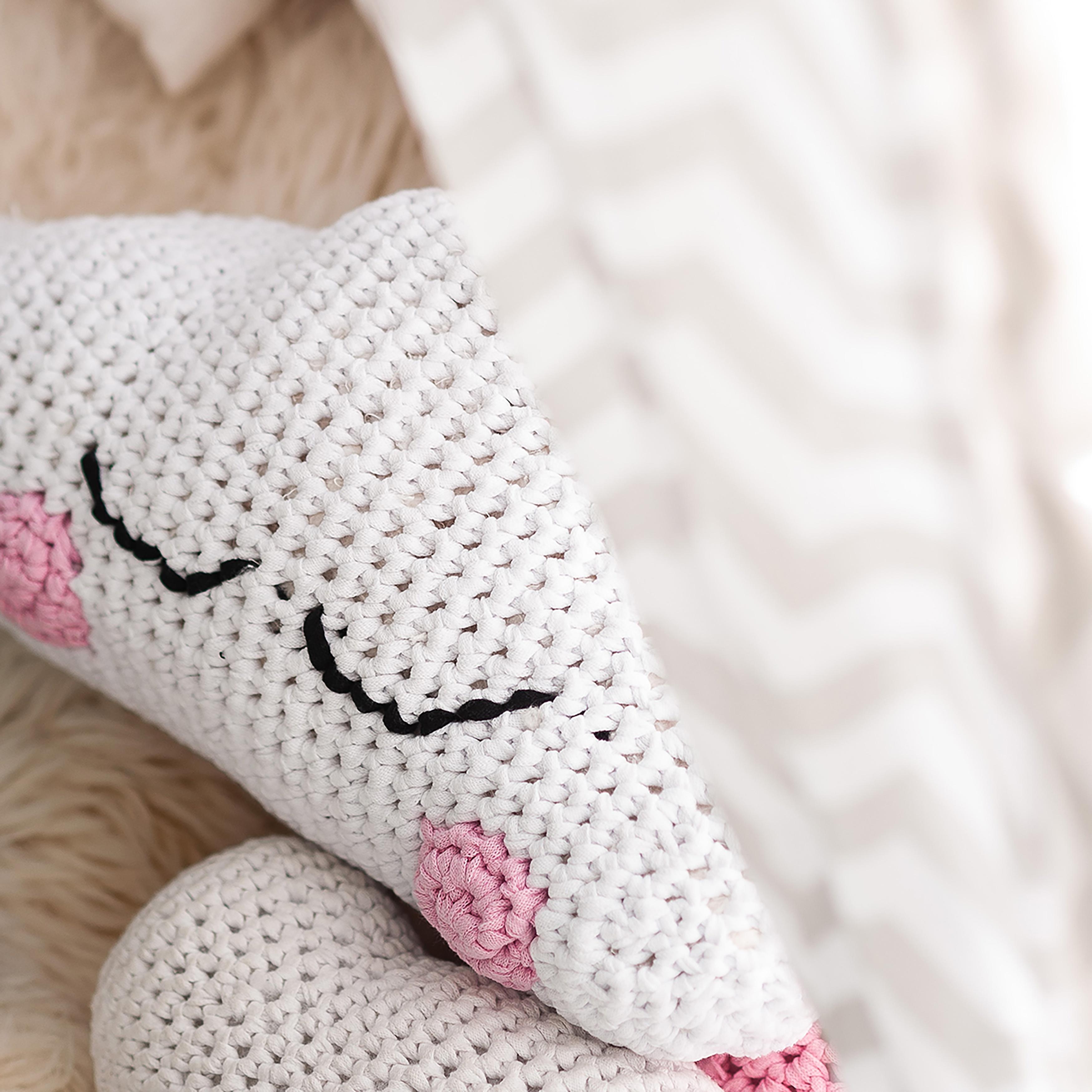 Hoooked Crochet Cushion Kit W/RibbonXL-Dream Cloud
