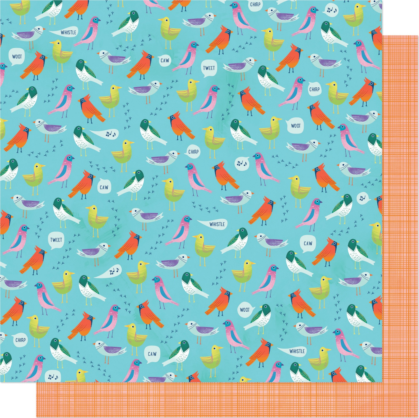 Shimelle Never Grow Up Double-Sided Cardstock 12X12-Dawn Chorus