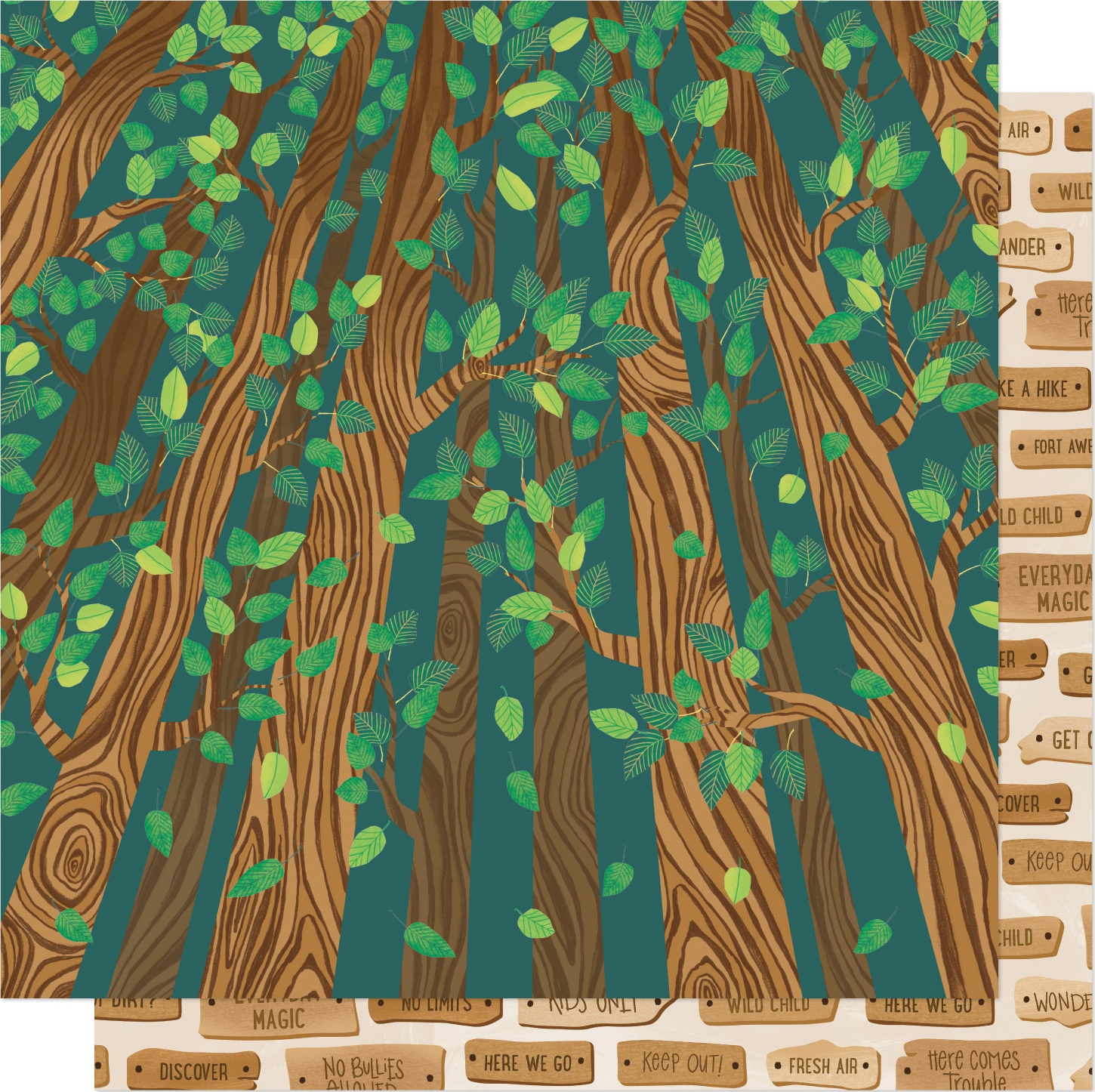 Shimelle Never Grow Up Double-Sided Cardstock 12X12-Climb Trees
