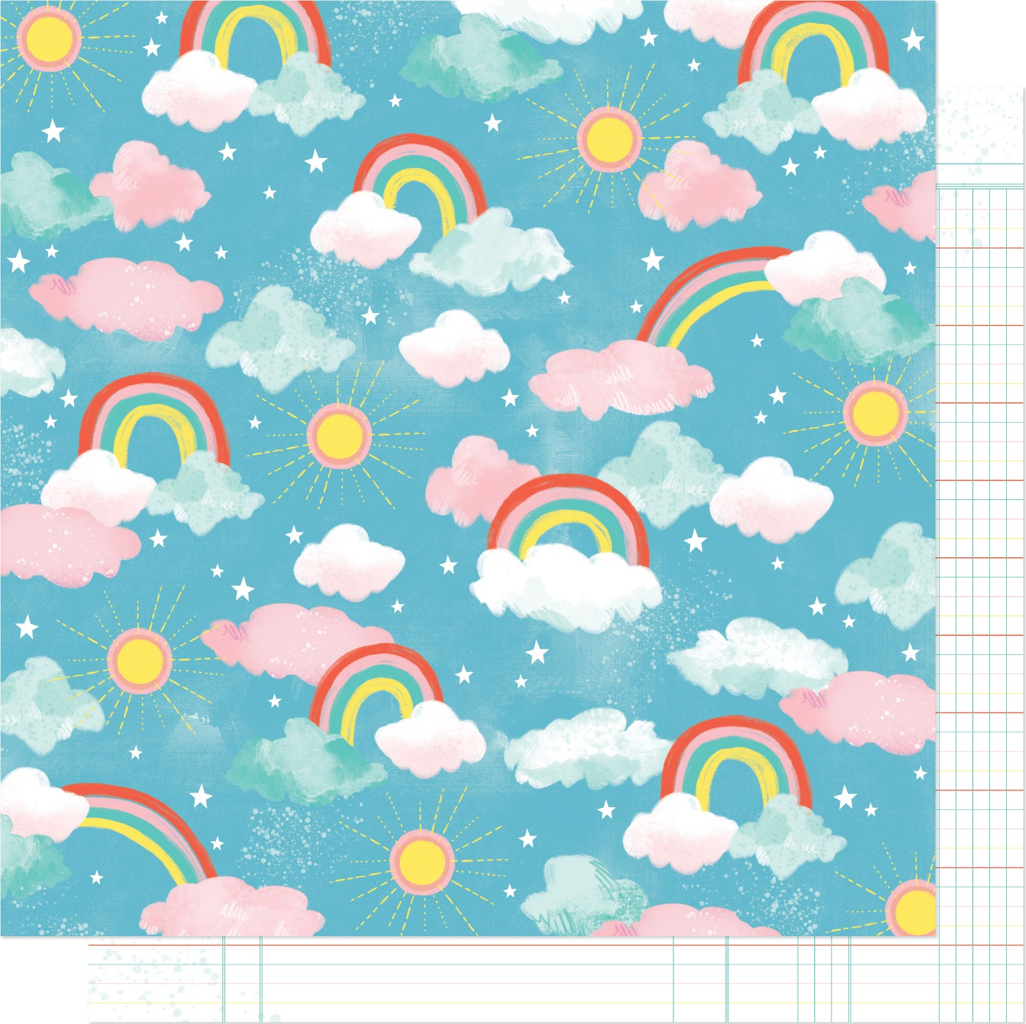 Shimelle Never Grow Up Double-Sided Cardstock 12X12-Enchnated Sky