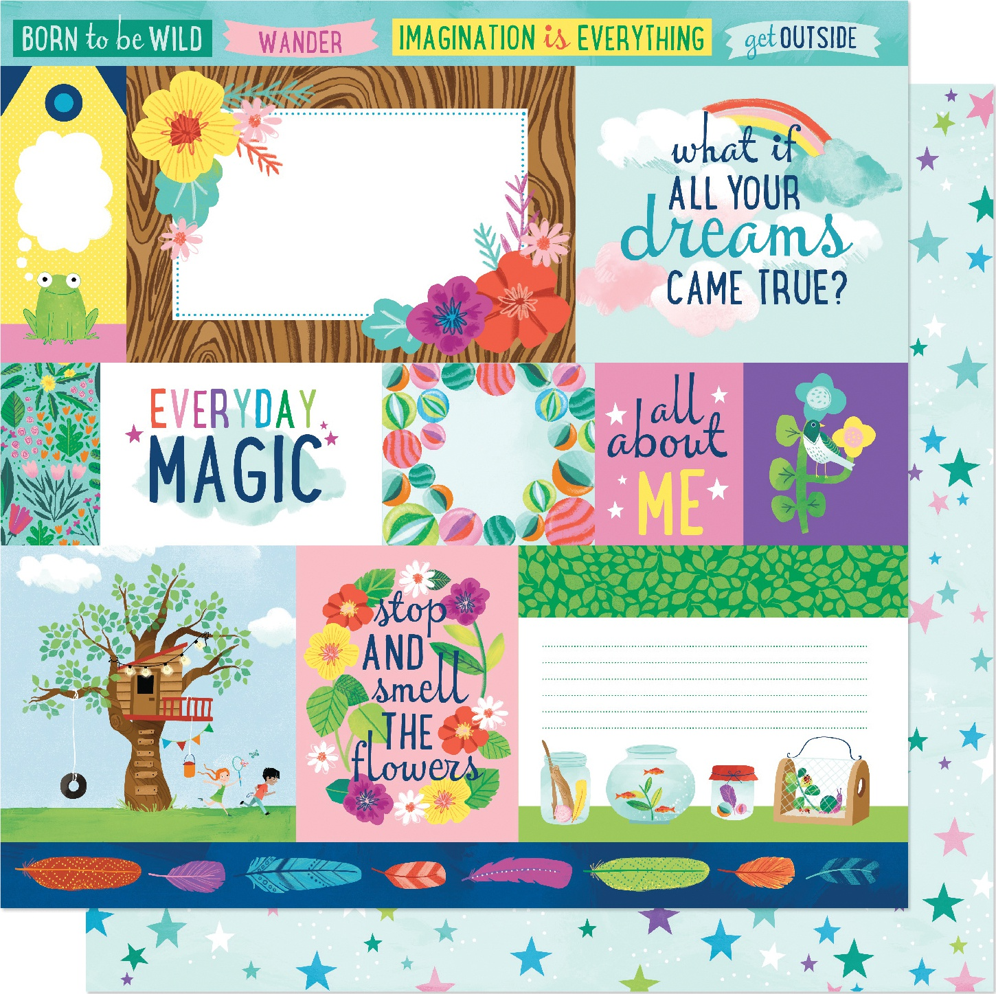Shimelle Never Grow Up Double-Sided Cardstock 12X12-Dreams Come True