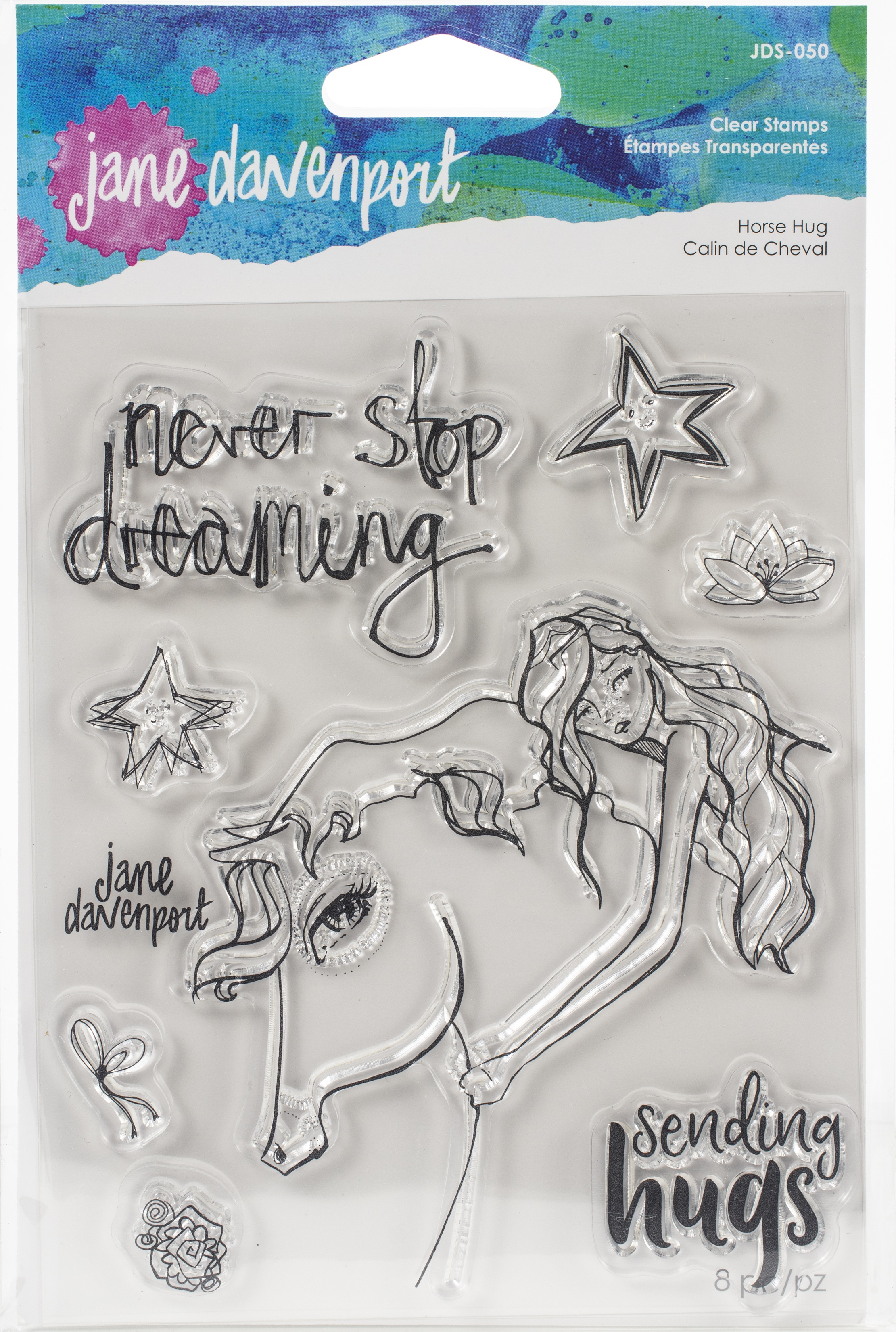 Jane Davenport Whimsical & Wild Collection Clear Stamps Set-Horse Hug