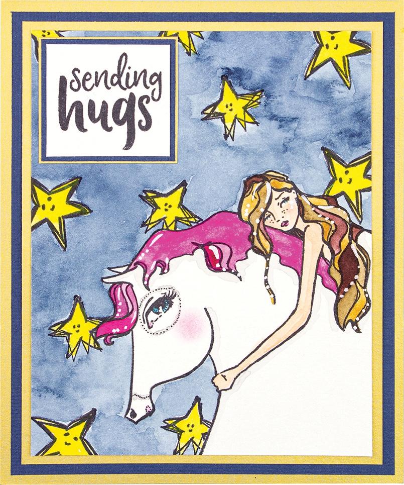 Horse Hug Clear Stamp