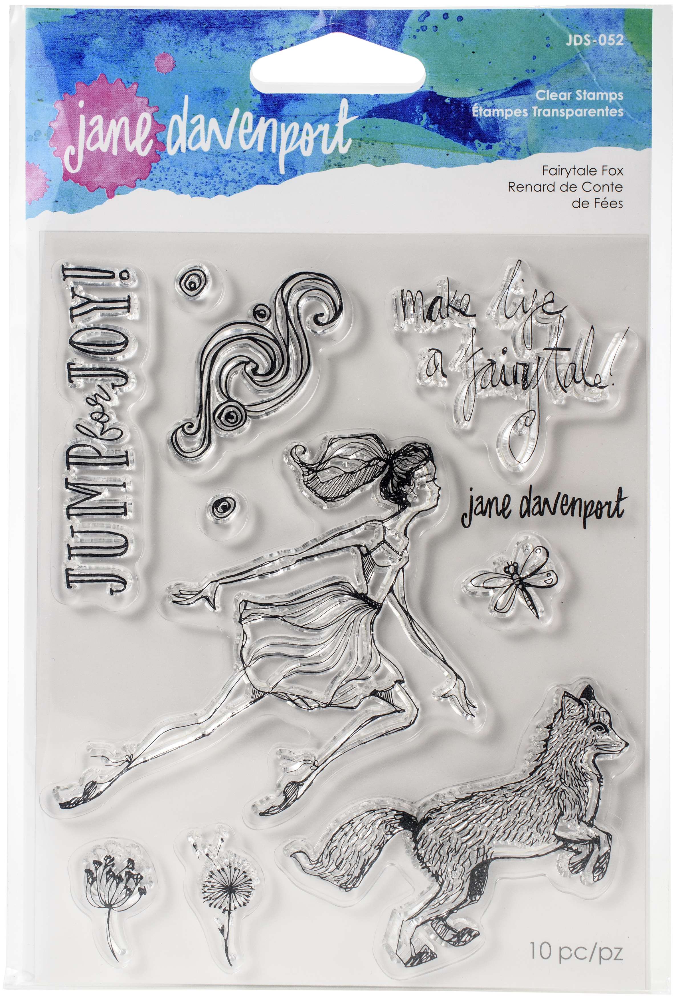 Jane Davenport Whimsical & Wild Collection Clear Stamps Set-Fairytale Fox