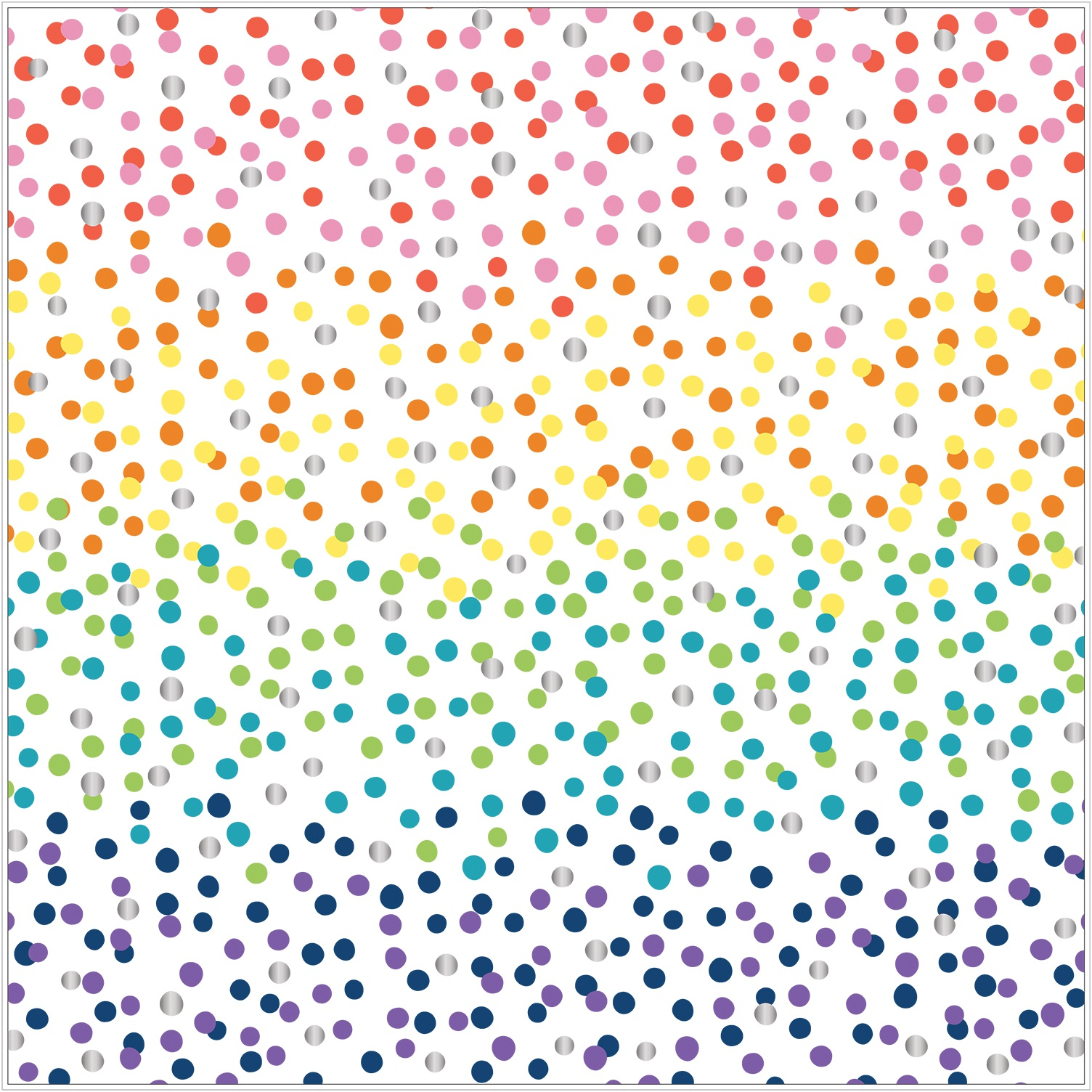 Shimelle Never Grow Up Specialty Paper 12X12-Acetate W/Silver Foil Accents