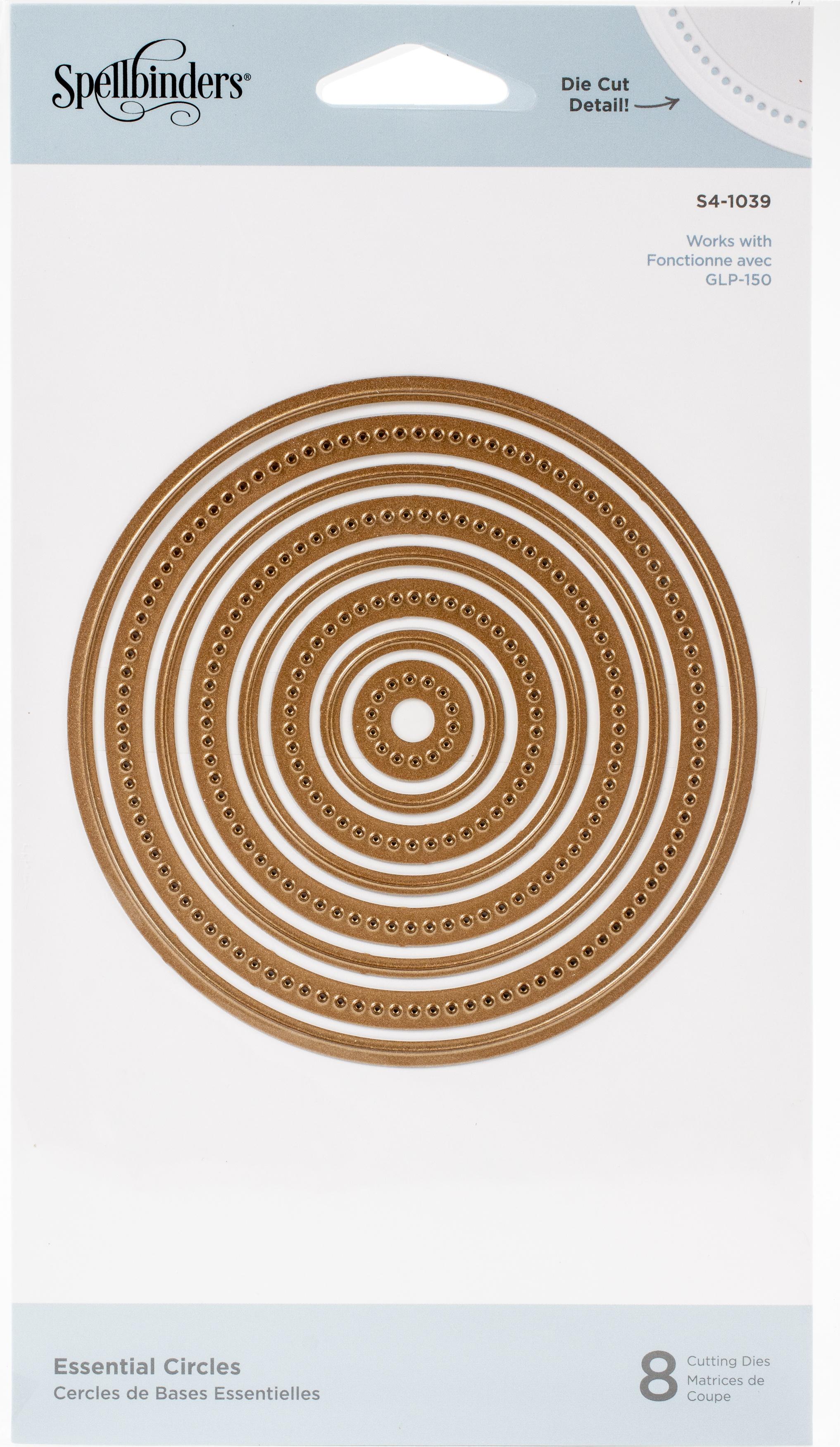 Spellbinders Etched Dies -Essential Circles