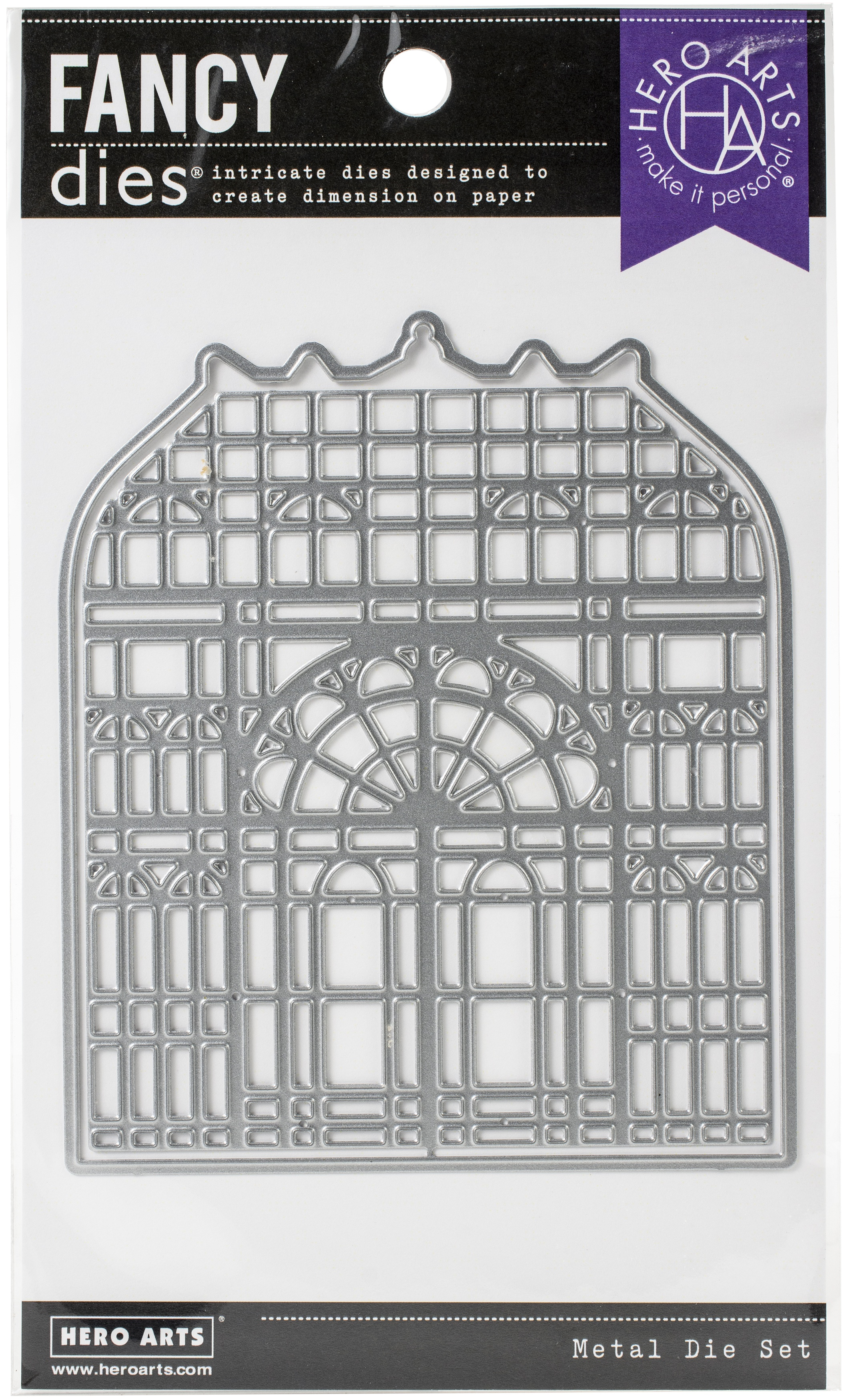 Hero Arts Fancy Dies-Victorian Greenhouse W/Frame