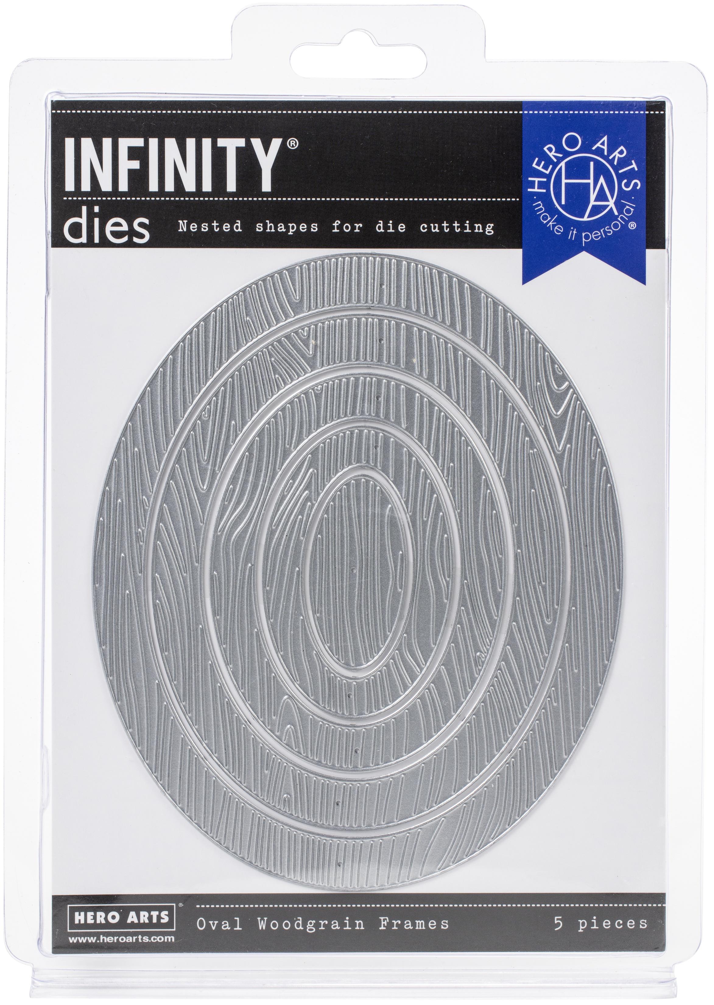 Infinity Dies Oval Woodgrain Frames