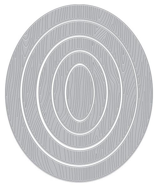 Hero Arts Infinity Dies-Oval Woodgrain Frames
