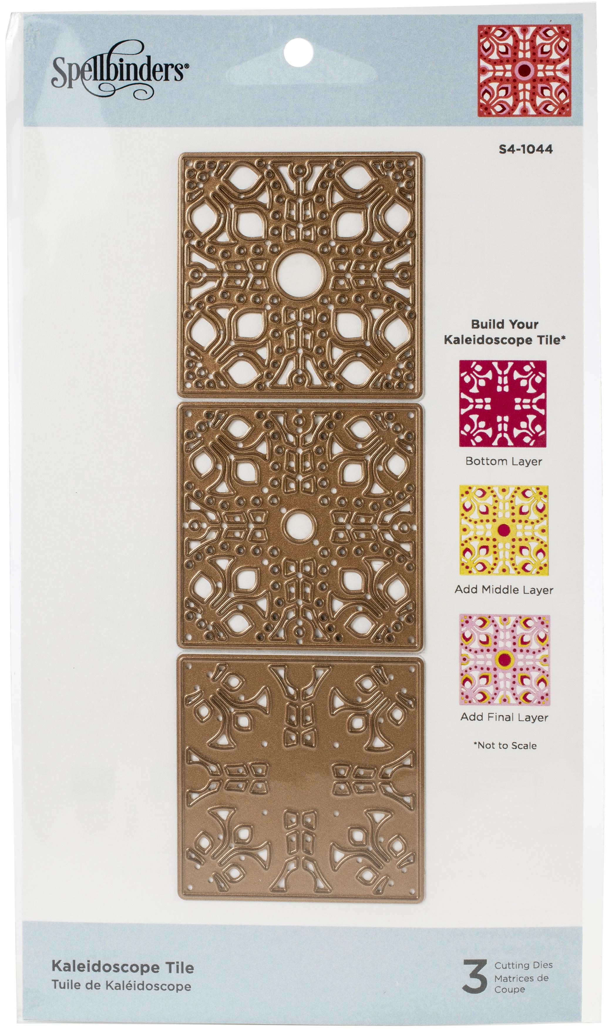 Spellbinders Etched Dies-Kaleidoscope Tile